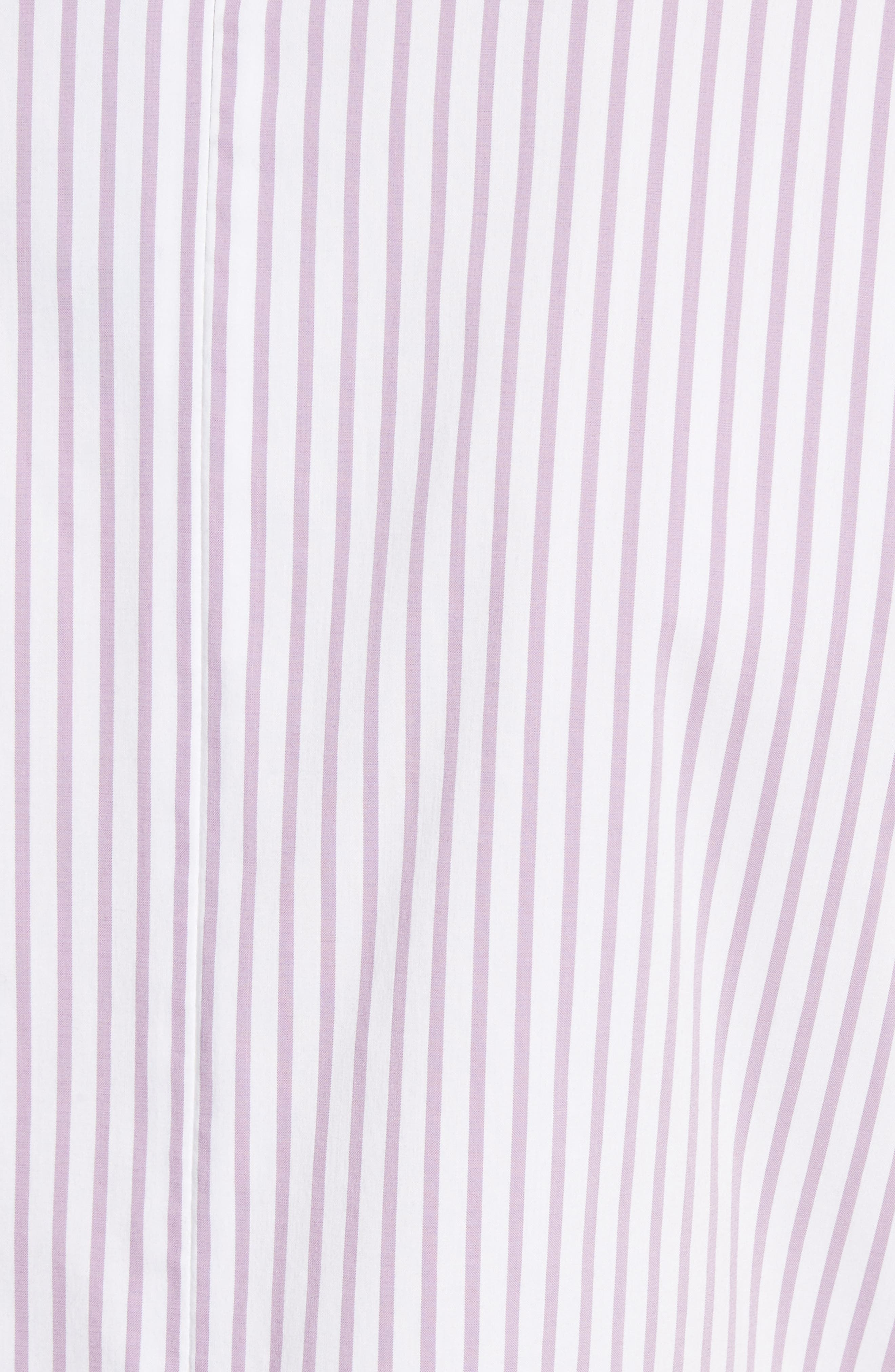 Pinstripe Twist Front Top,                             Alternate thumbnail 5, color,                             Orchid/ Bianco