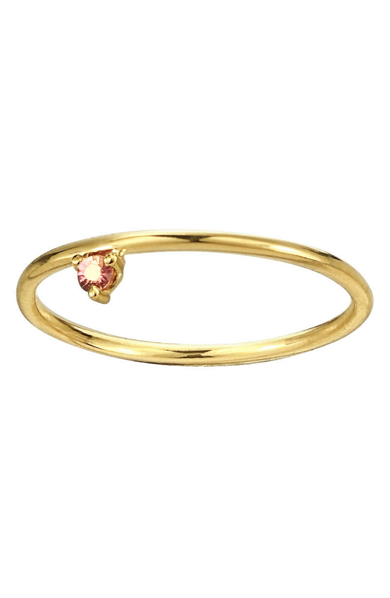 One Step Ring,                             Alternate thumbnail 3, color,                             Pink Tourmaline