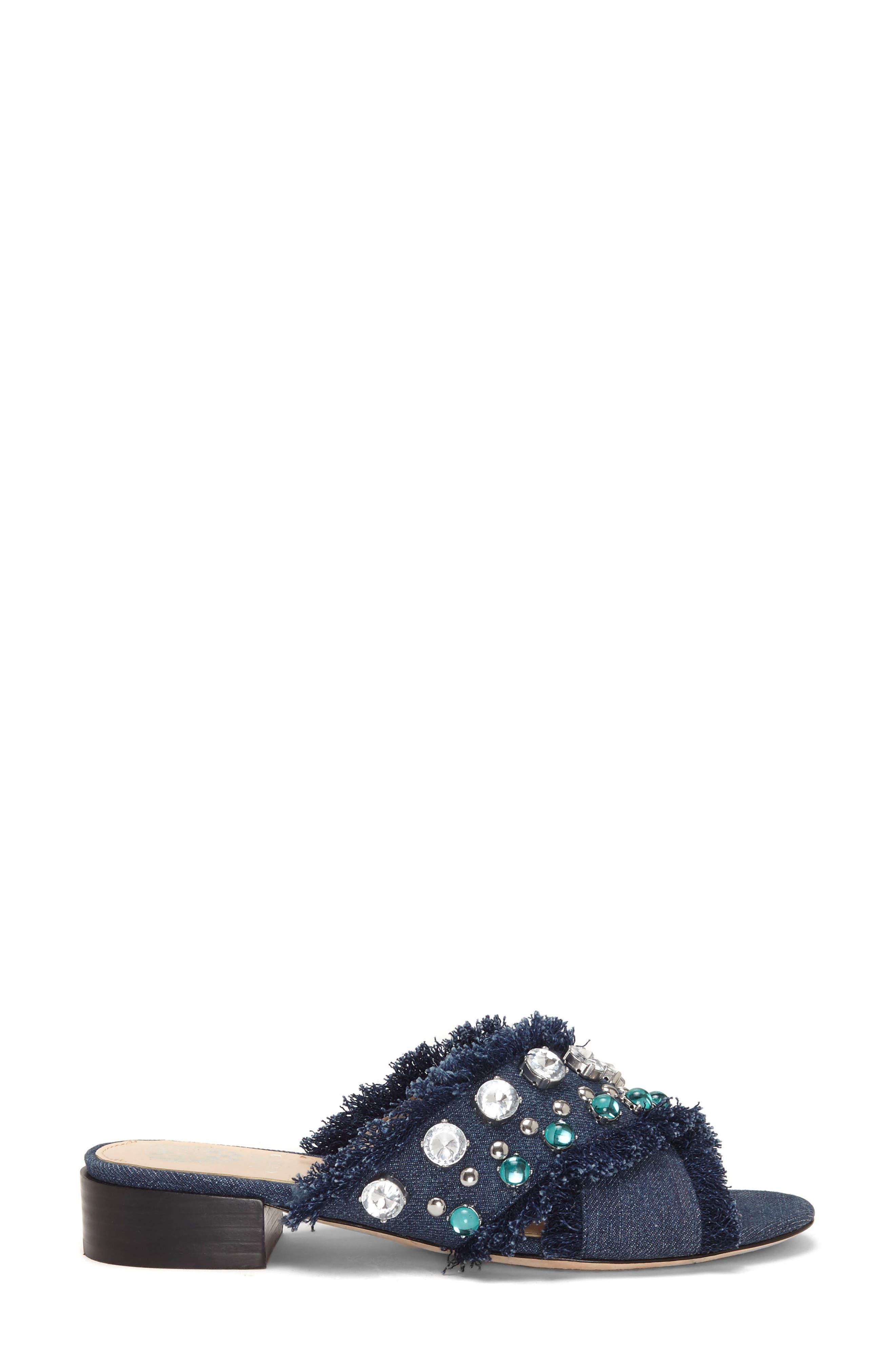 Noritta Slide Sandal,                             Alternate thumbnail 3, color,                             Denim