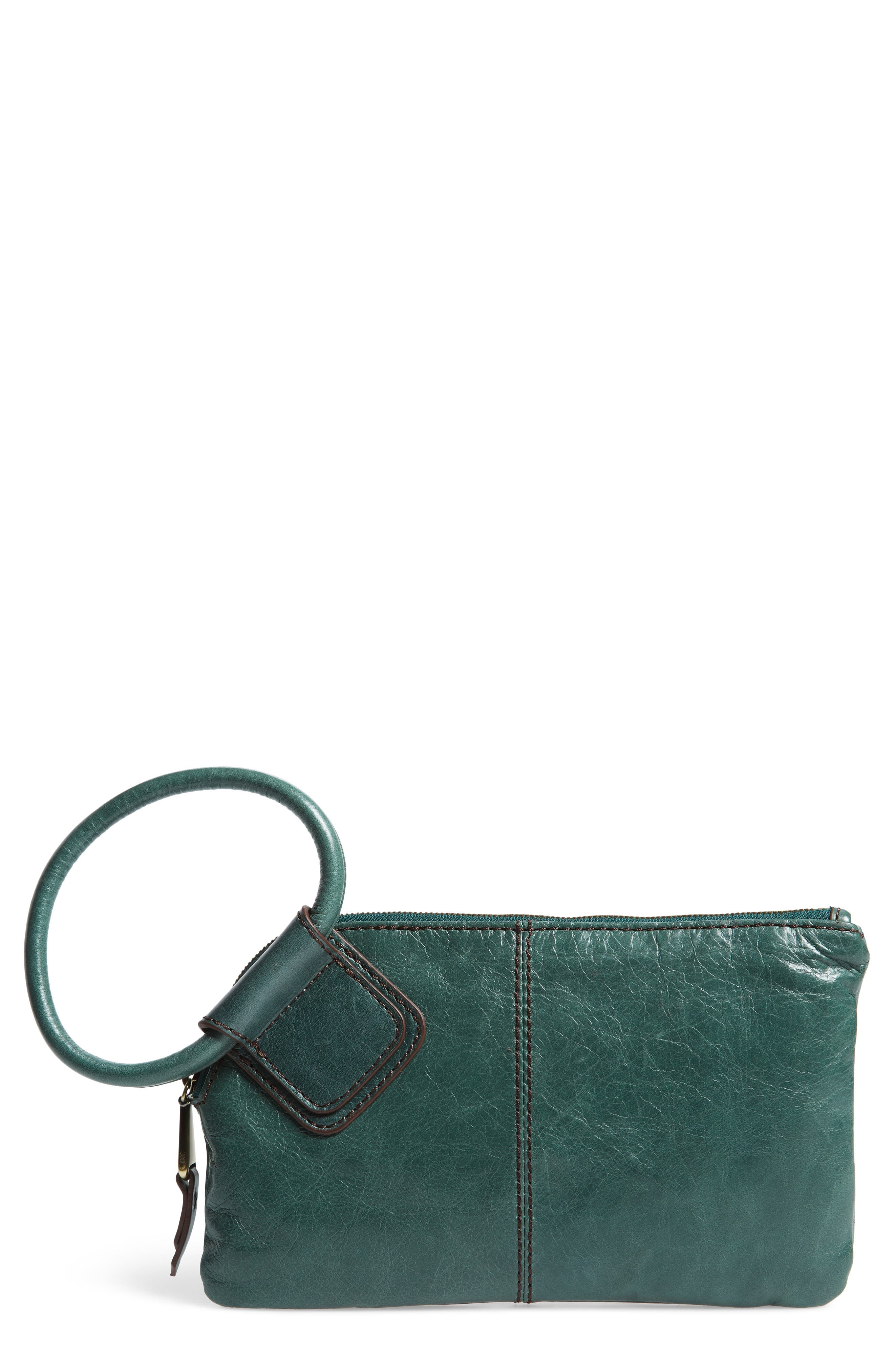 Hobo Sable Calfskin Leather Clutch