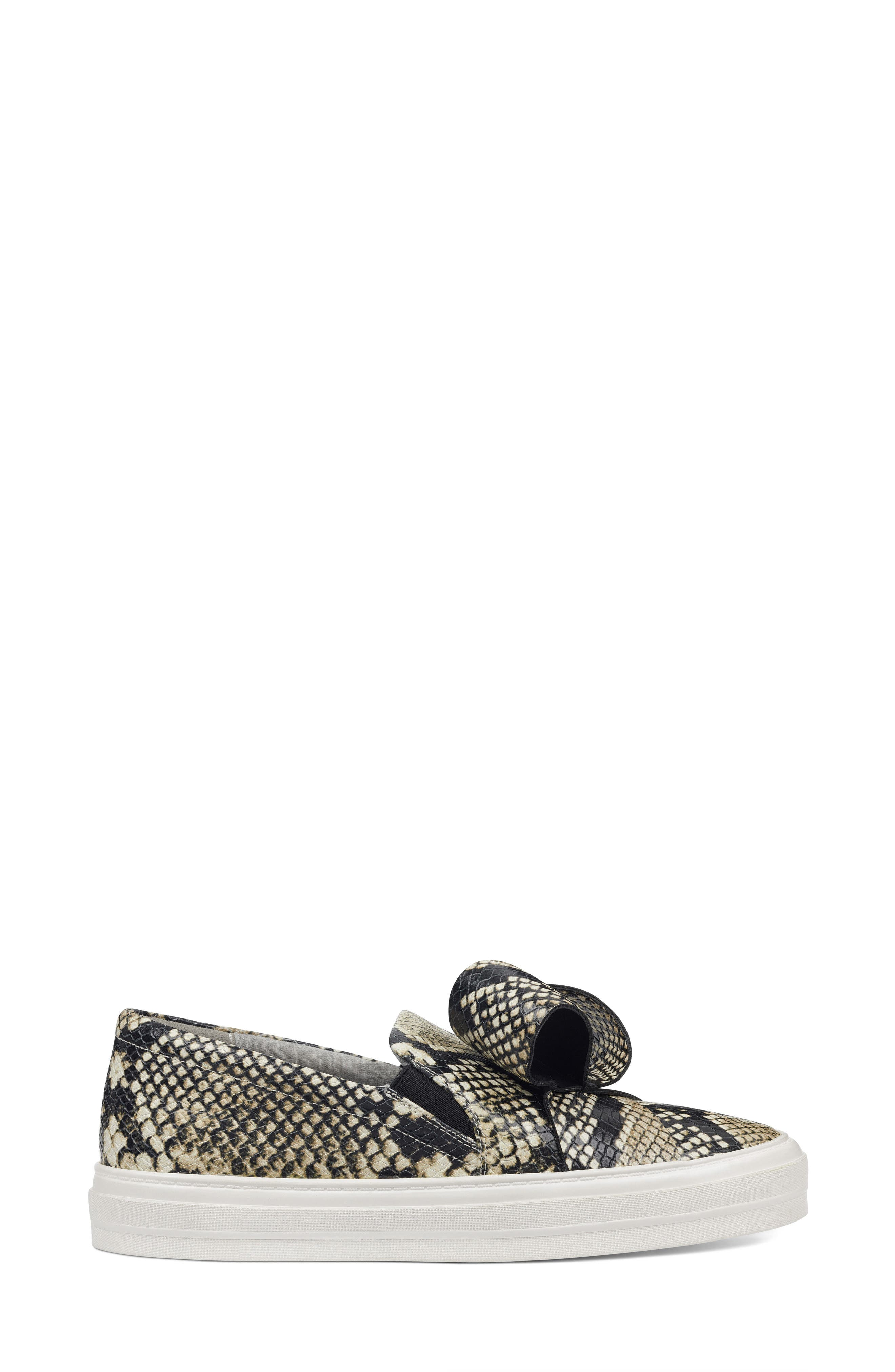 Odienella Slip-On Sneaker,                             Alternate thumbnail 3, color,                             Off White Multi Leather