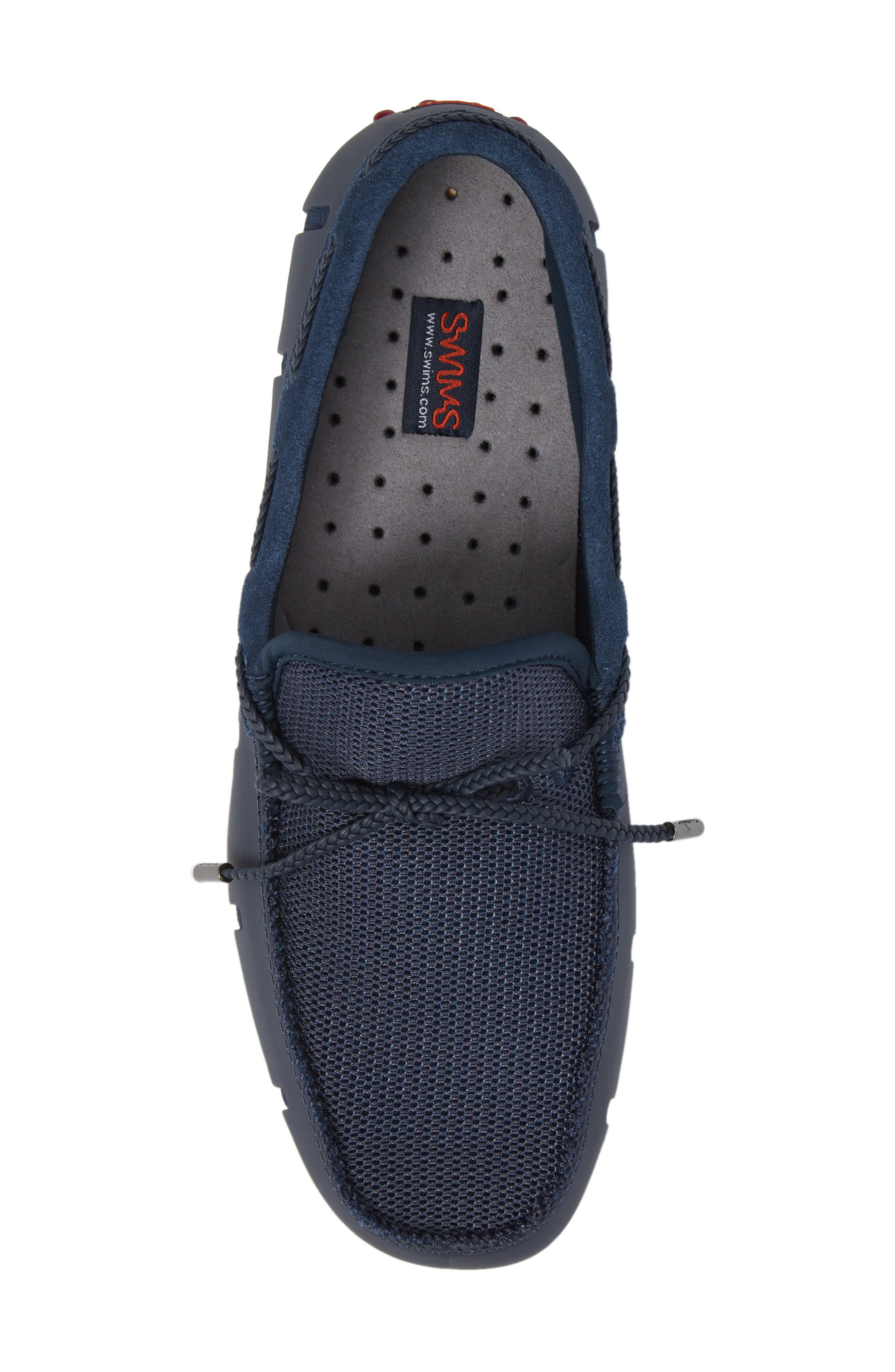 Driving Shoe,                             Alternate thumbnail 5, color,                             Navy / Deep Red