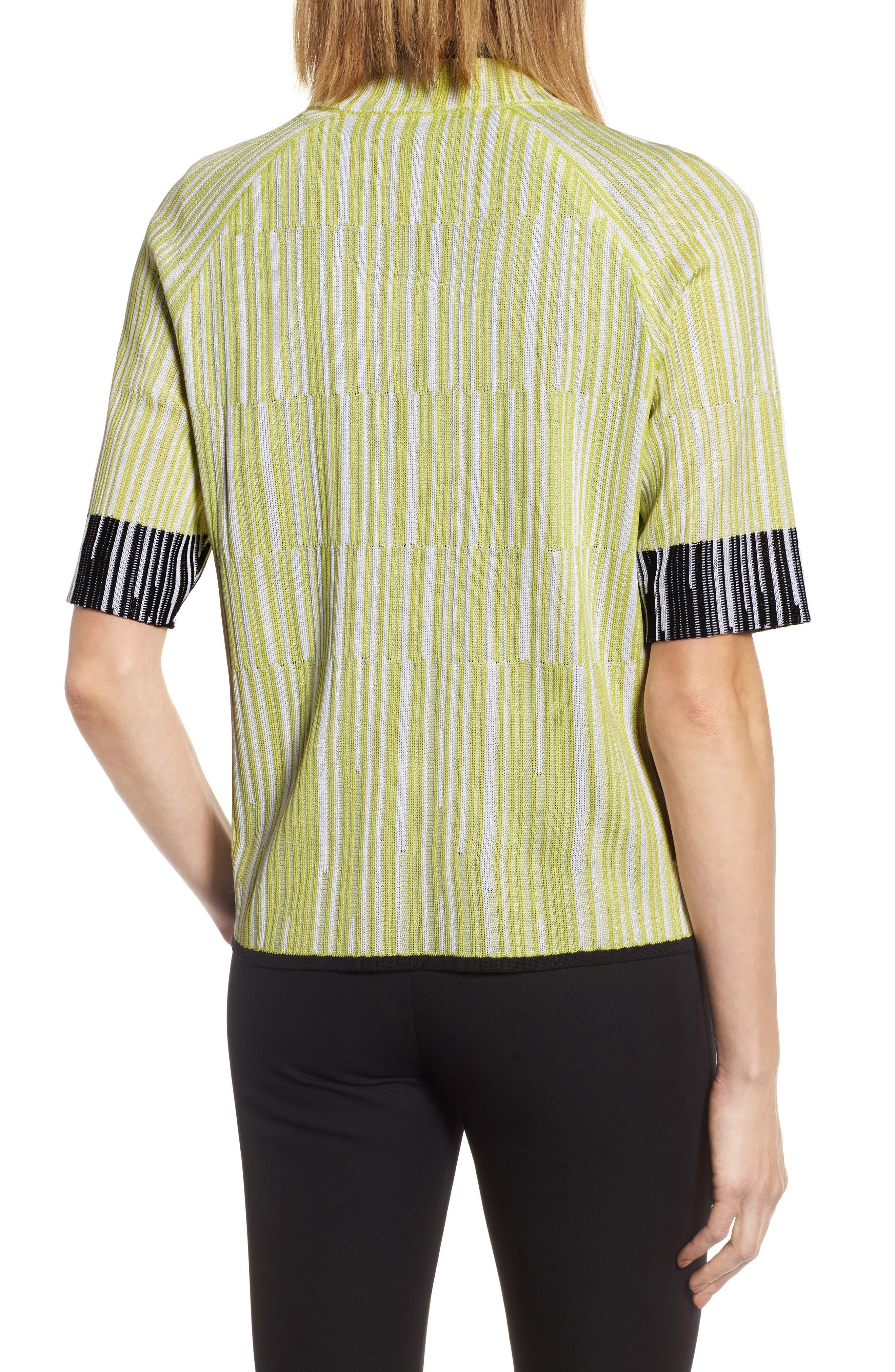 Alternate Image 2  - Ming Wang Short Sleeve Jacquard Jacket