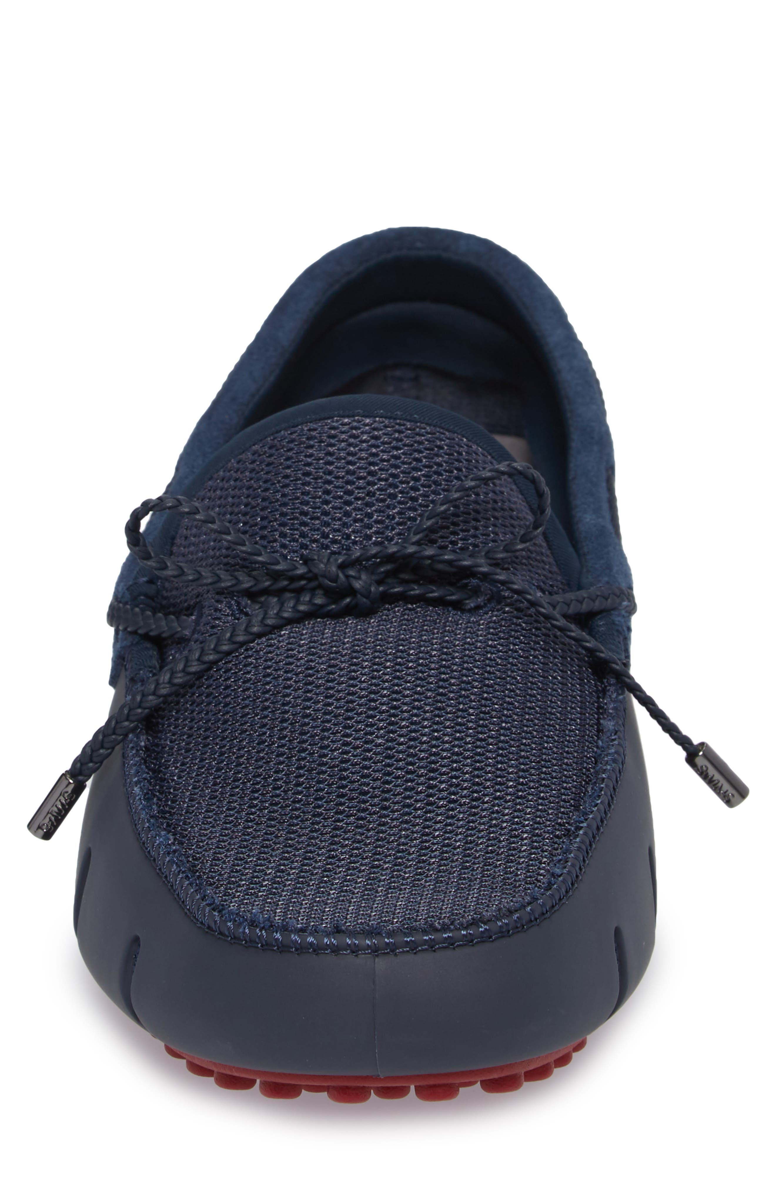 Driving Shoe,                             Alternate thumbnail 4, color,                             Navy / Deep Red