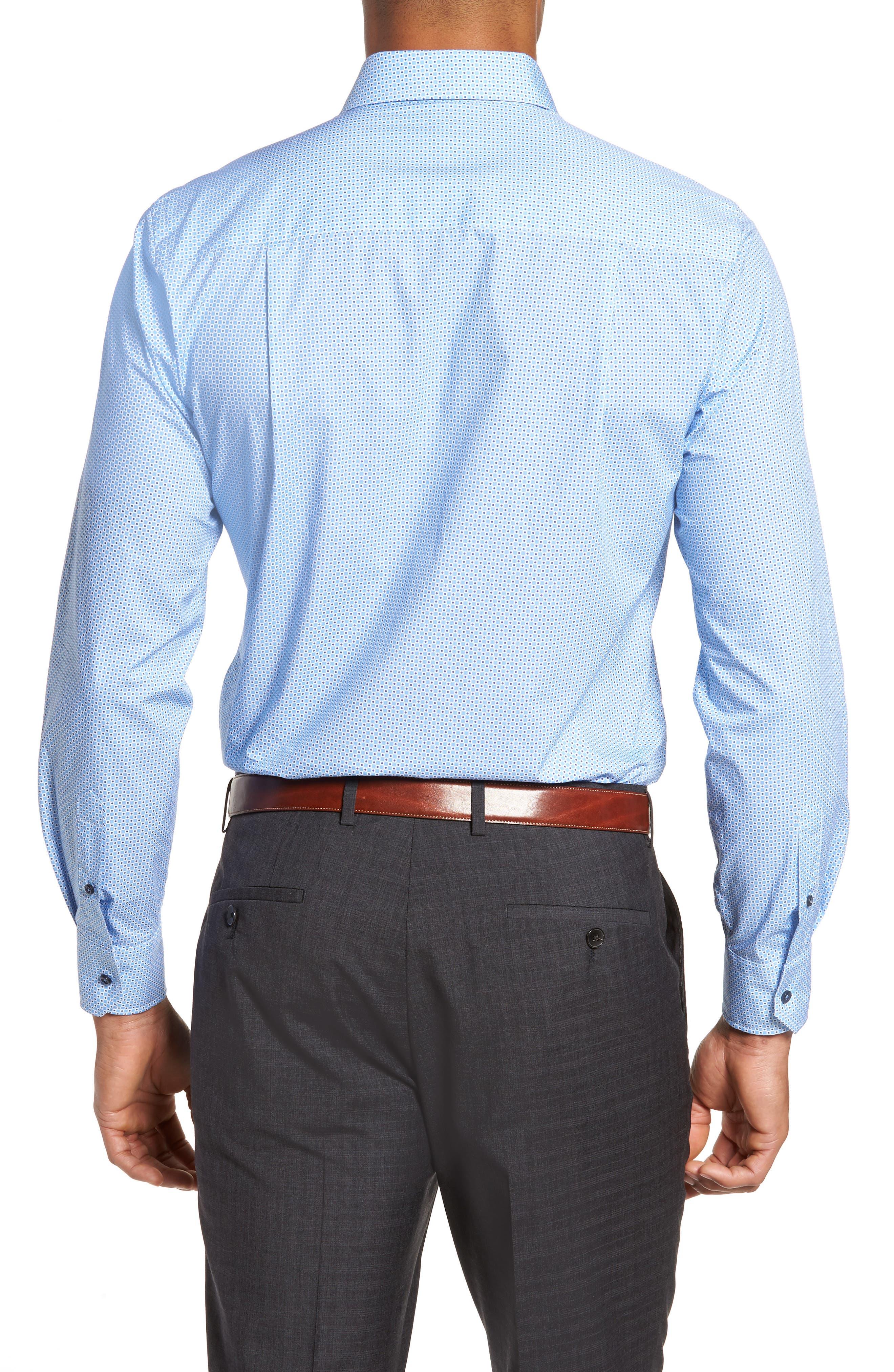 Print Sport Shirt,                             Alternate thumbnail 2, color,                             Blue