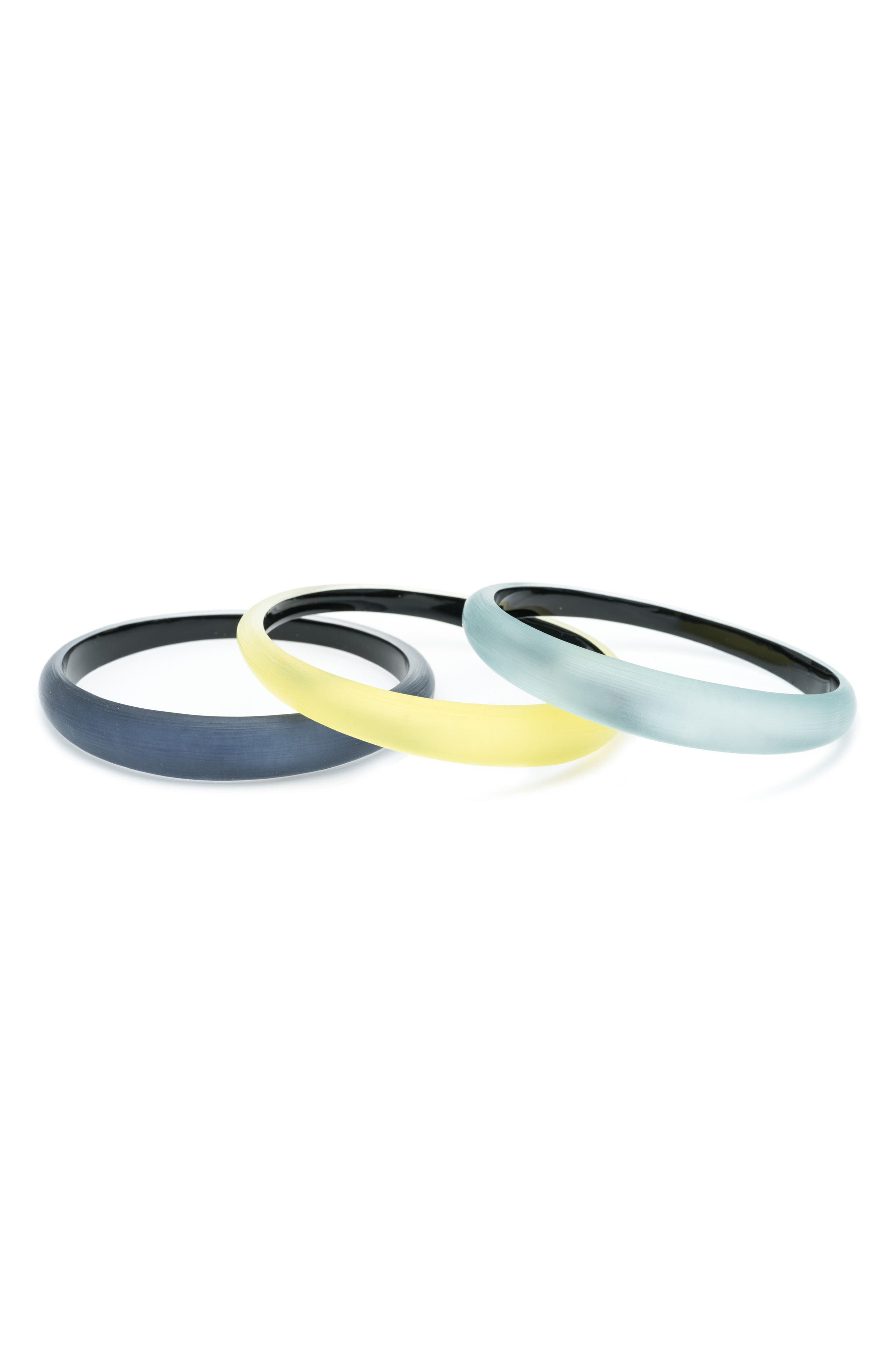 Alex Bittar Set of 3 Tapered Lucite<sup>®</sup> Bangle Bracelets,                             Alternate thumbnail 2, color,                             Ocean/ Grey/ Titanium Yellow