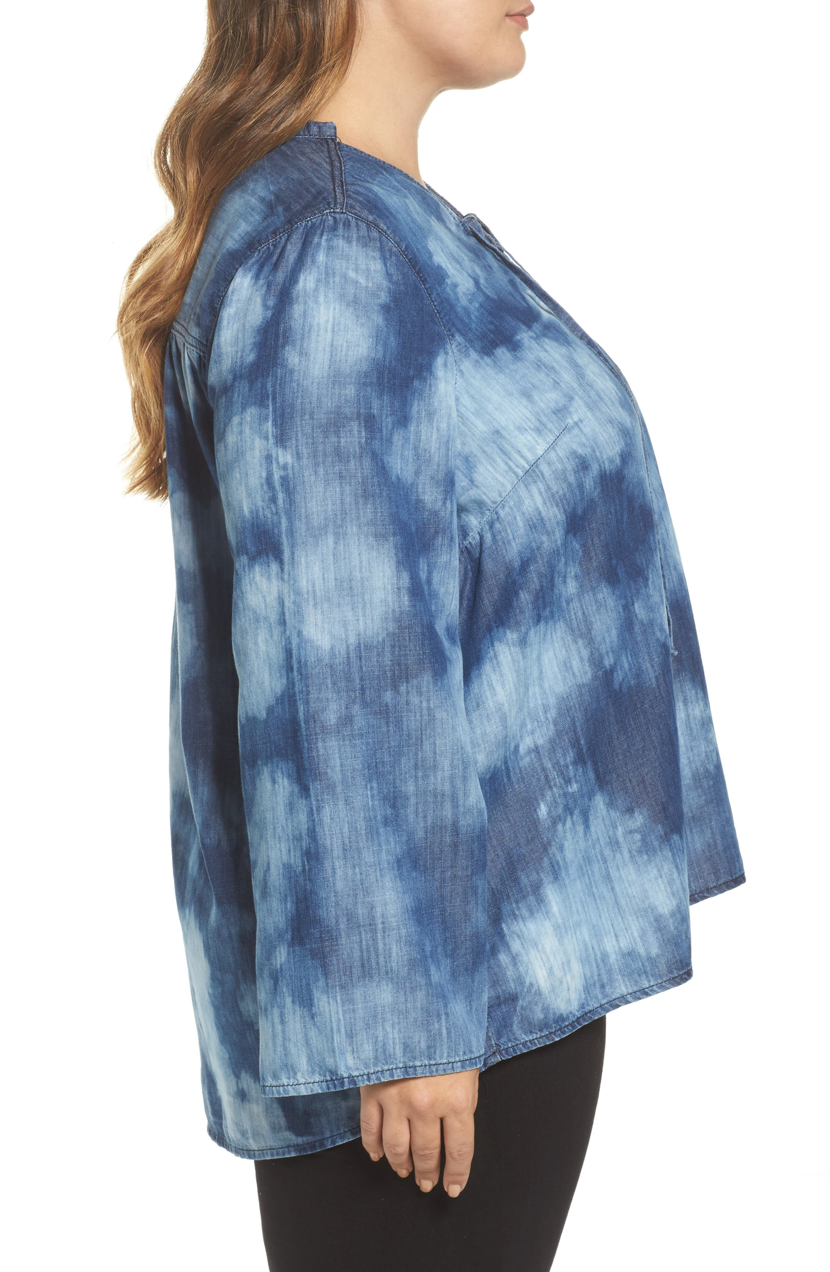 Alternate Image 3  - Melissa McCarthy Seven7 Bell Sleeve Top (Plus Size)