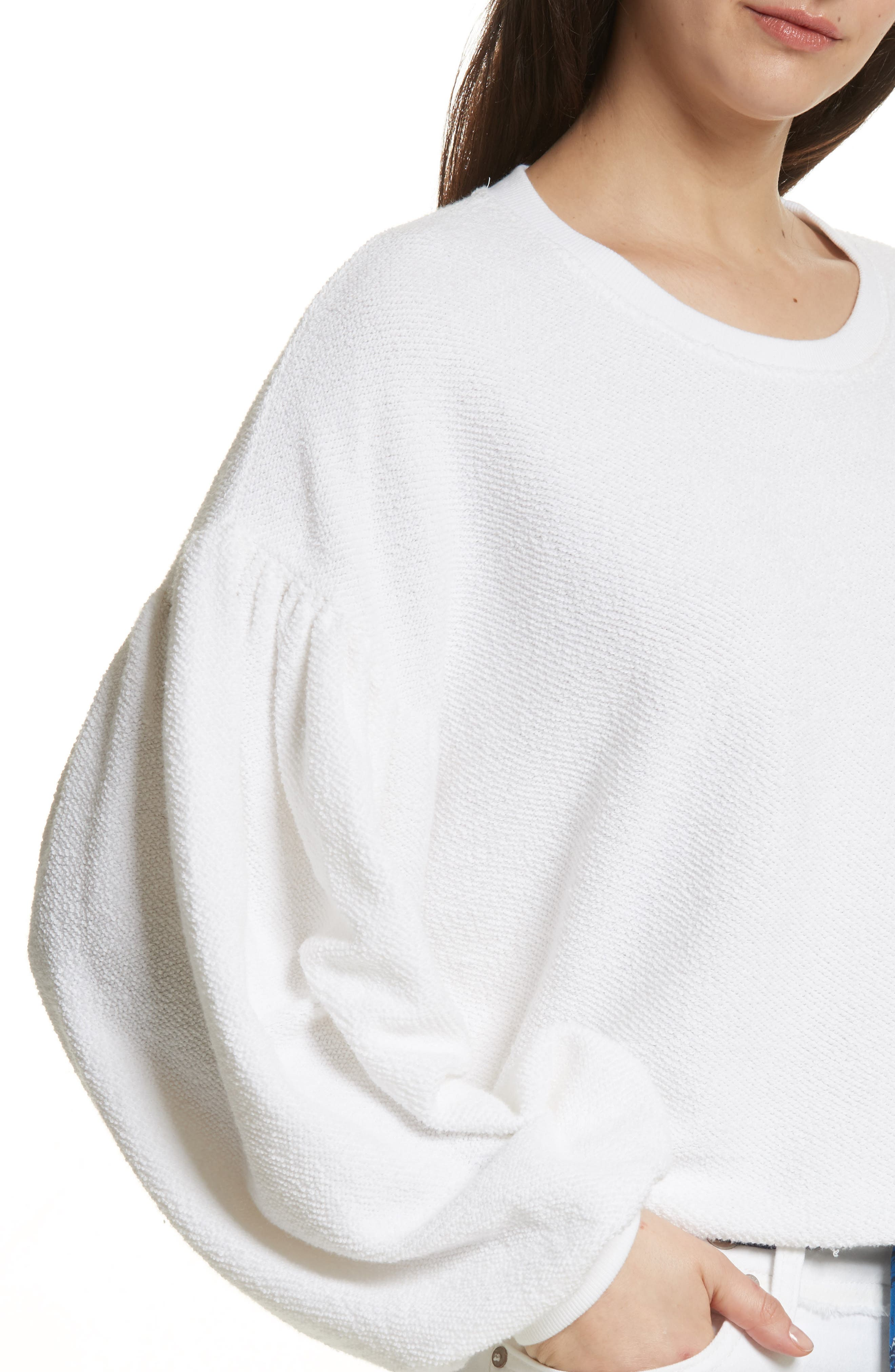 Sleeves like These Sweater,                             Alternate thumbnail 4, color,                             White