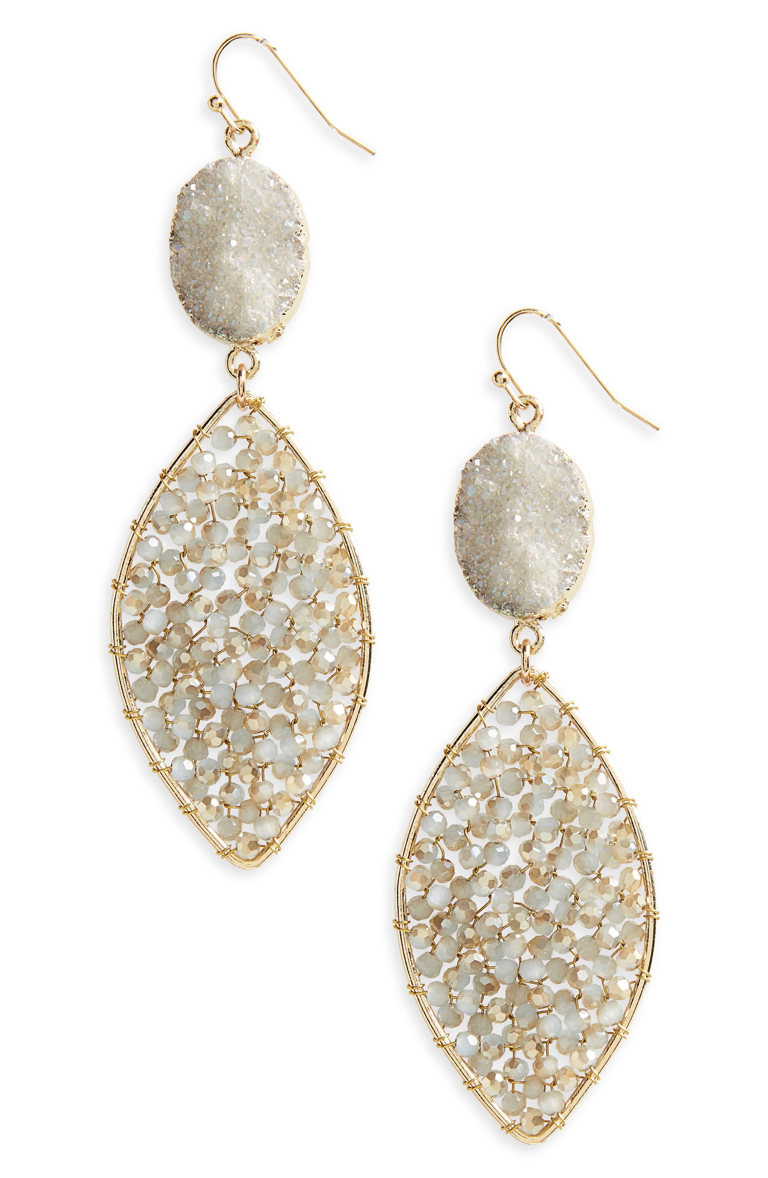 Alternate Image 1 Selected - Panacea Drusy Drop Earrings