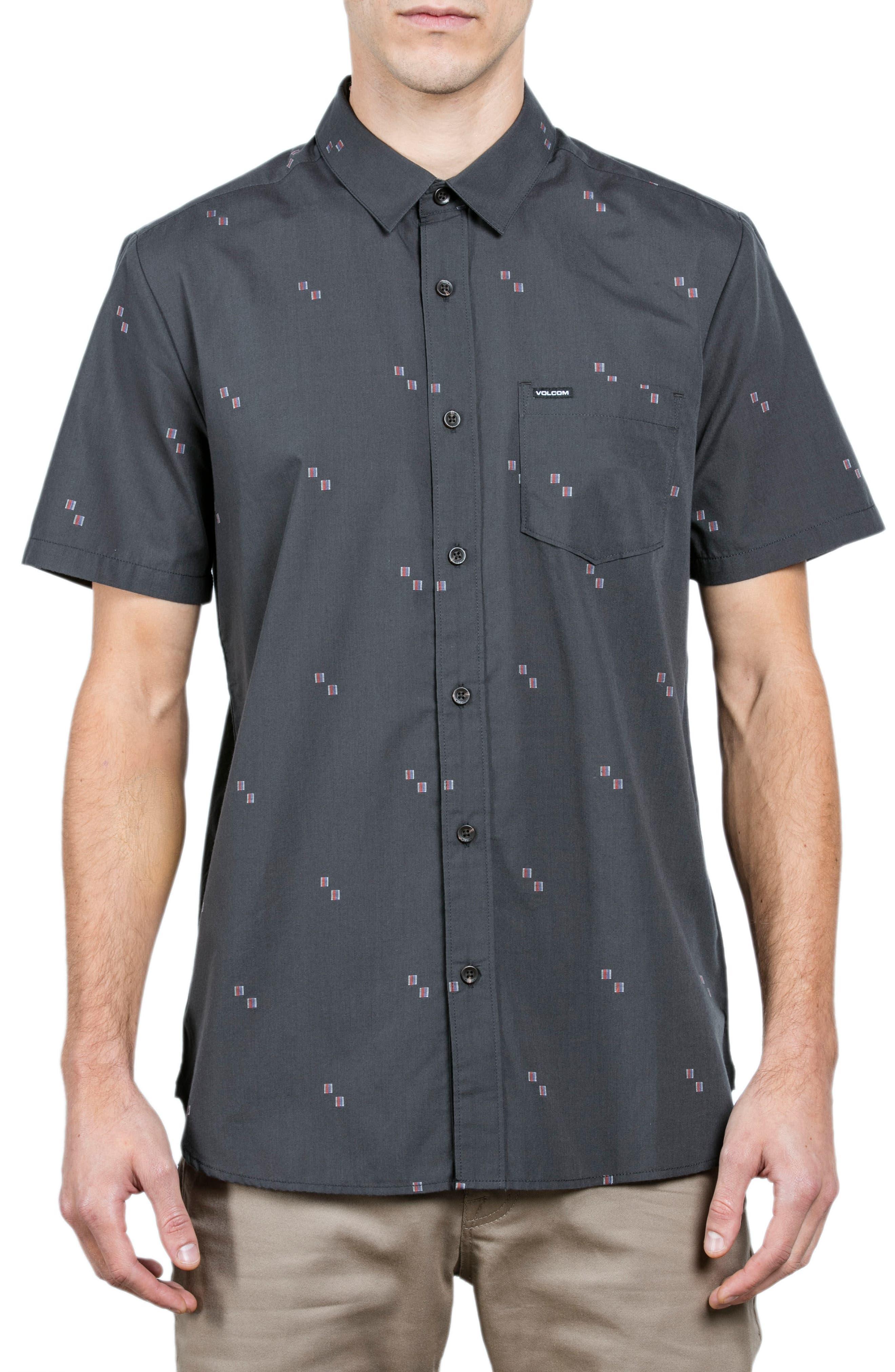 Floyd Woven Shirt,                         Main,                         color, Asphalt Blue