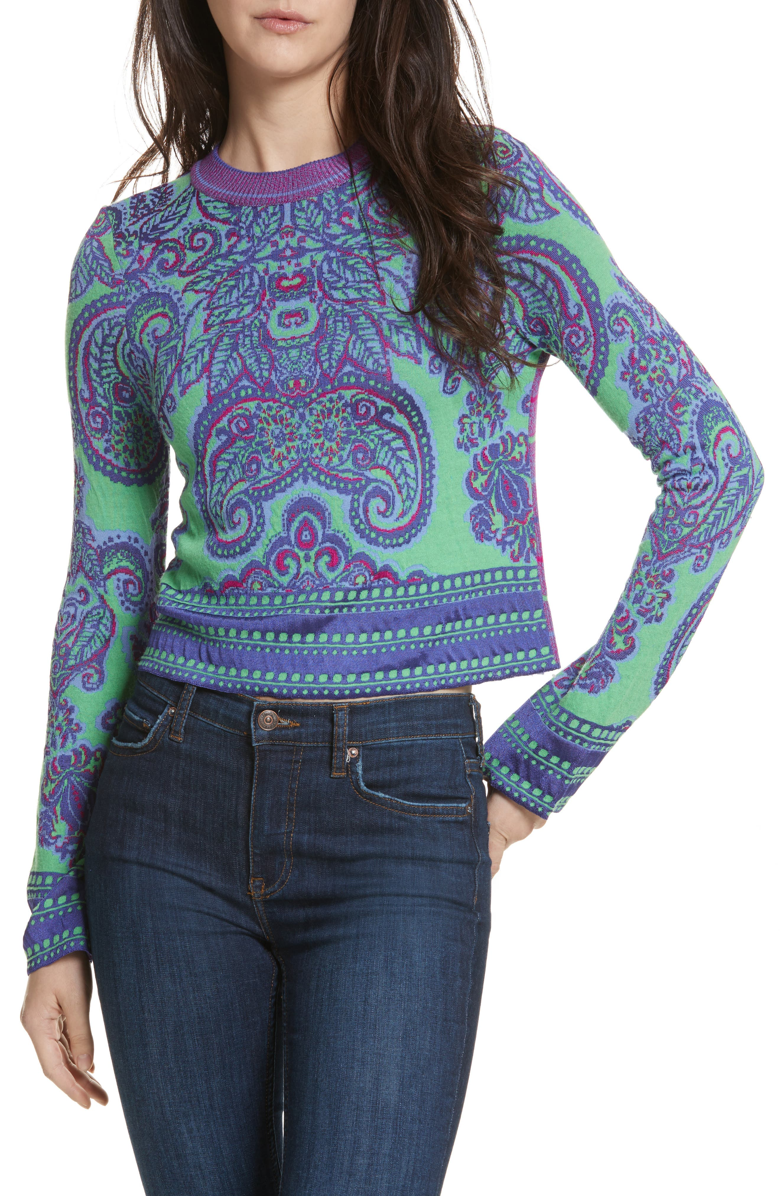 New Age Crewneck Sweater,                             Alternate thumbnail 2, color,                             Multi