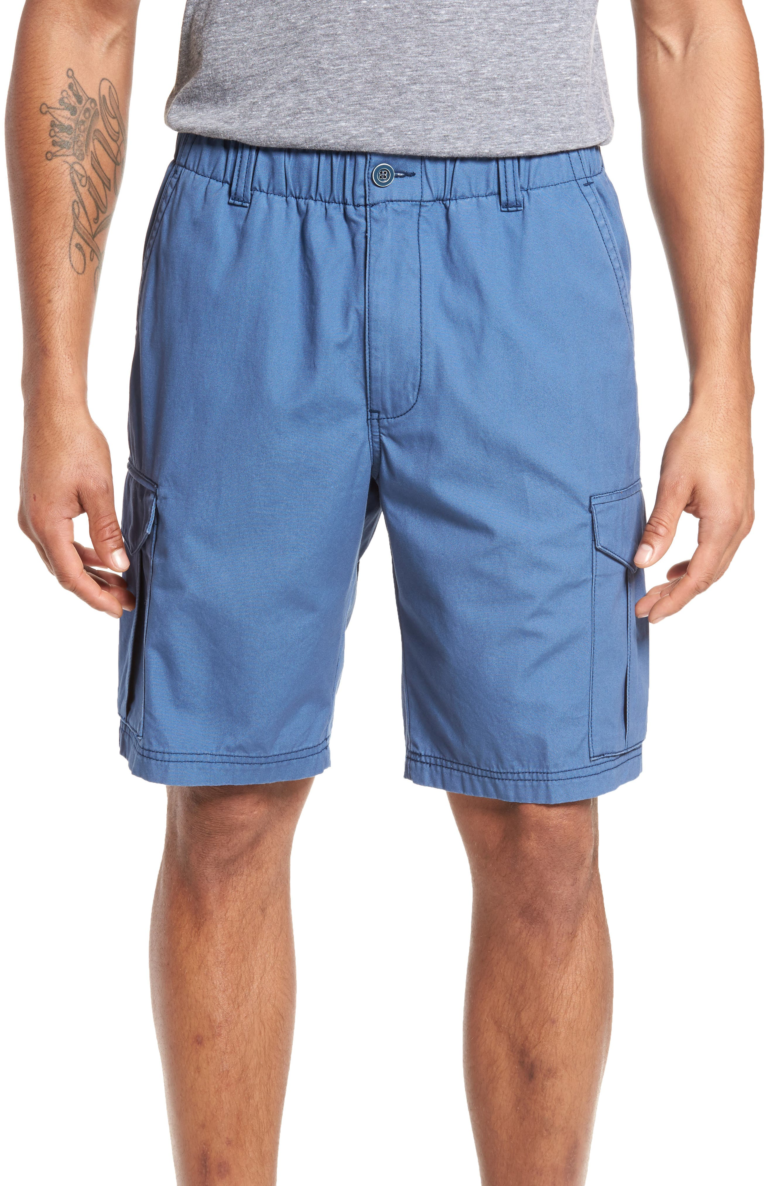 Island Survivalist Cargo Shorts,                         Main,                         color, Dockside Blue