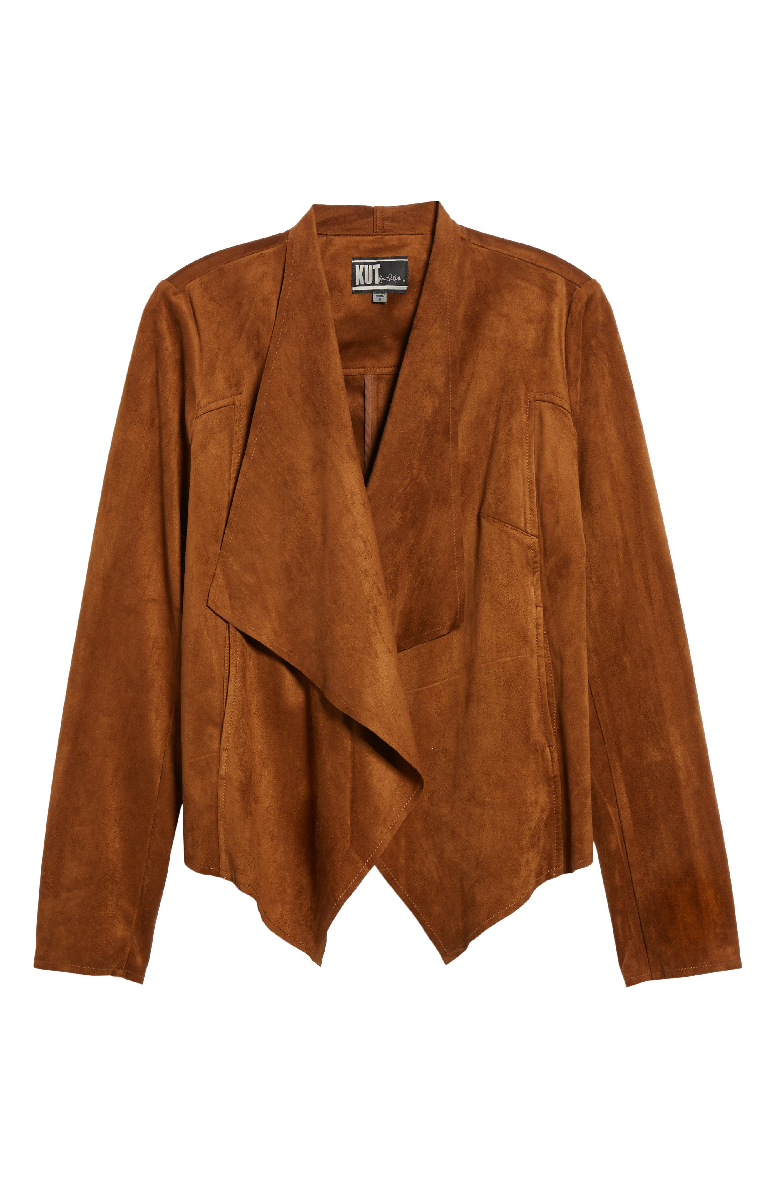 Tayanita Faux Suede Jacket,                         Main,                         color, Mocha