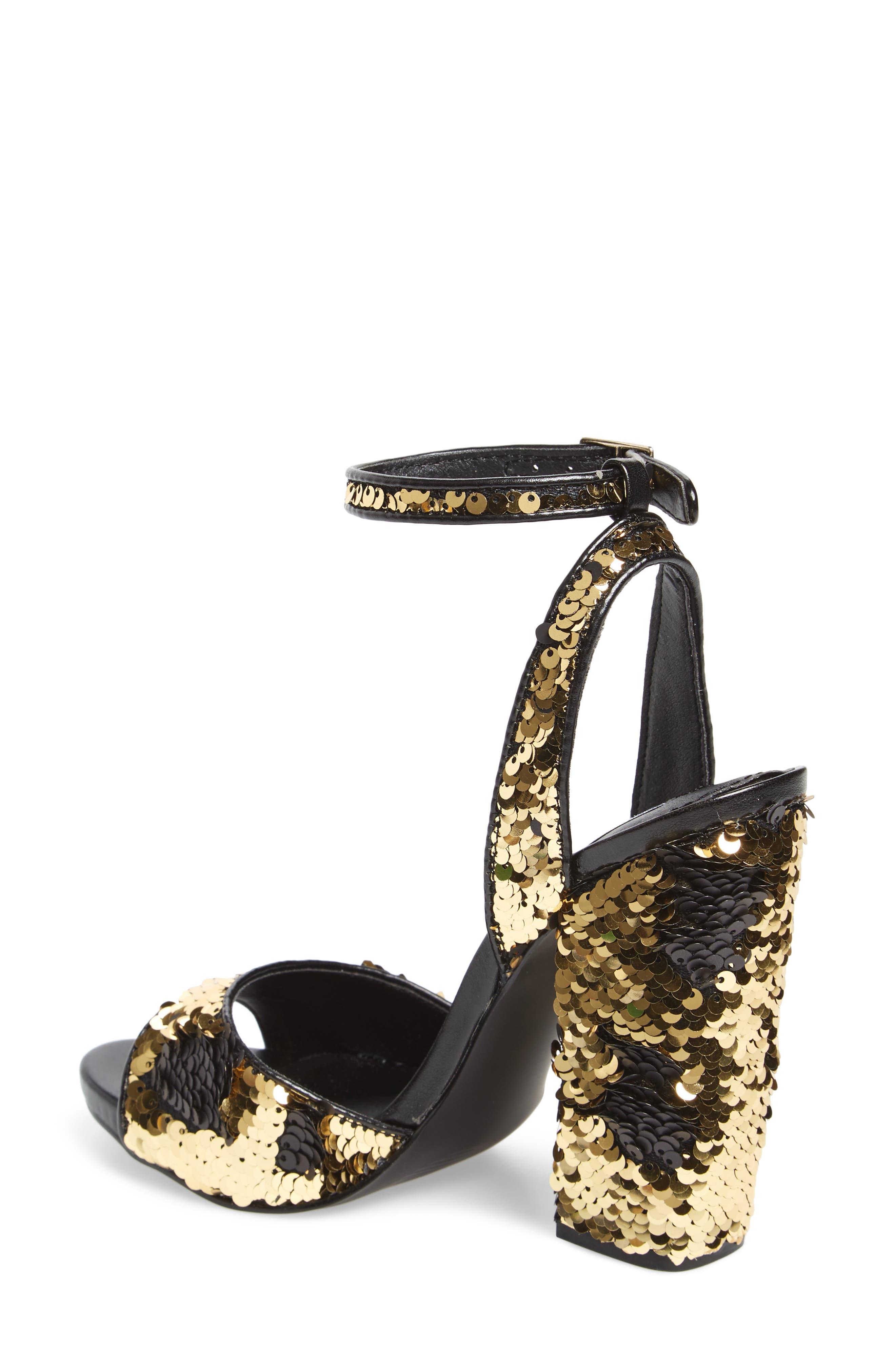 Ritzy Flip Sequin Sandal,                             Alternate thumbnail 2, color,                             Gold