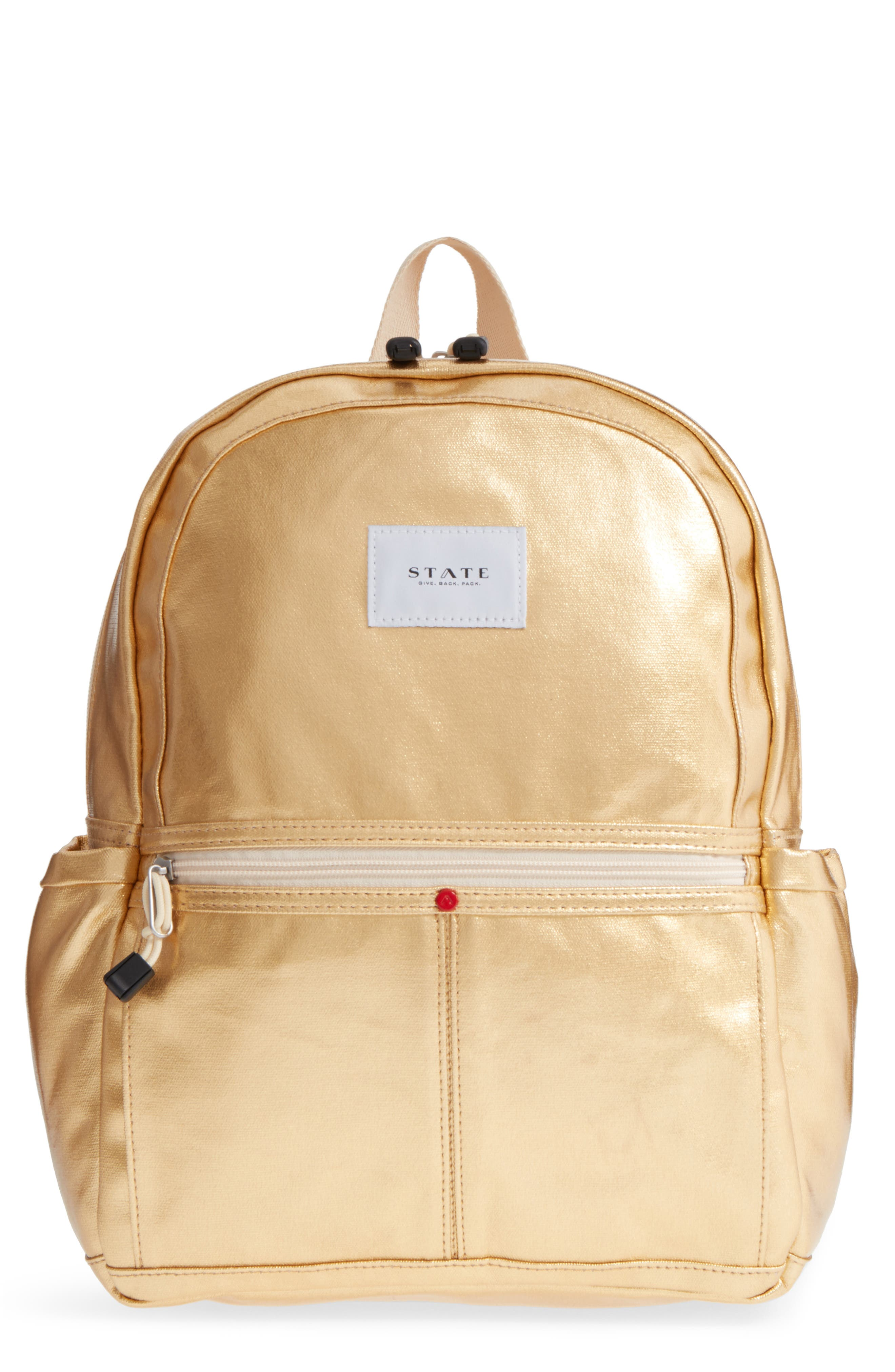 Downtown Kane Backpack,                         Main,                         color, Gold
