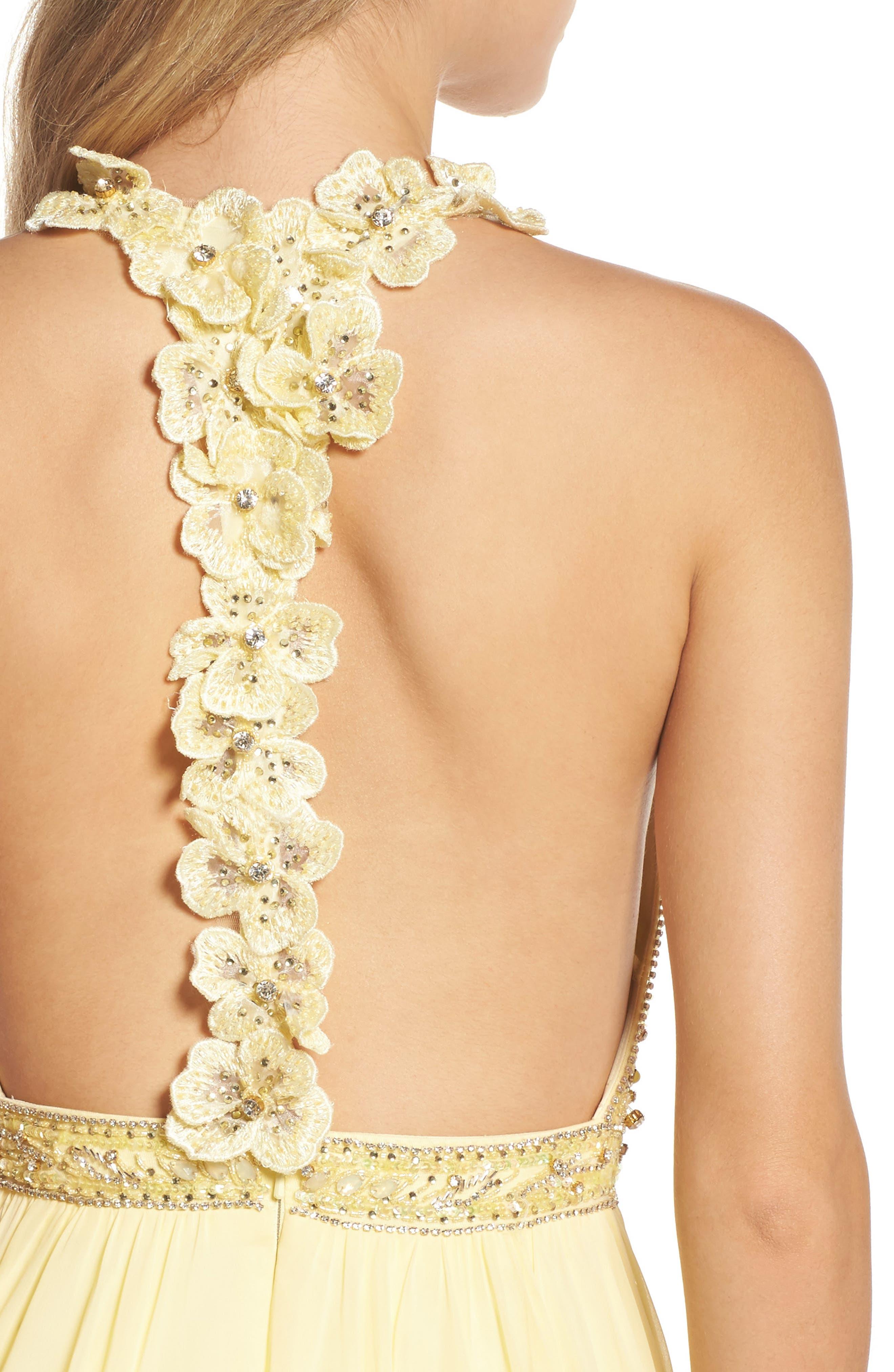 Alternate Image 4  - Mac Duggal Beaded Halter Neck Gown