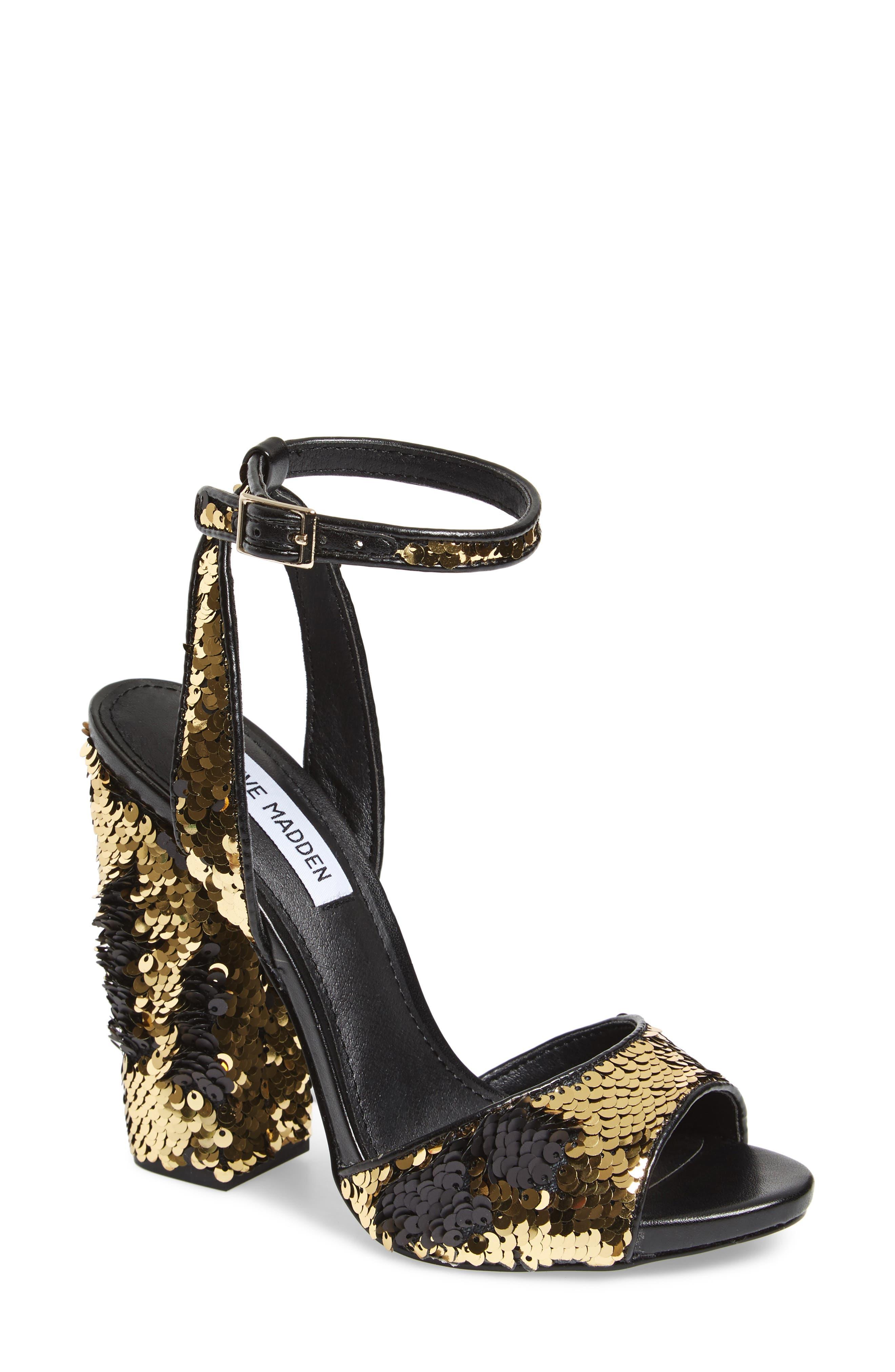 Ritzy Flip Sequin Sandal,                         Main,                         color, Gold