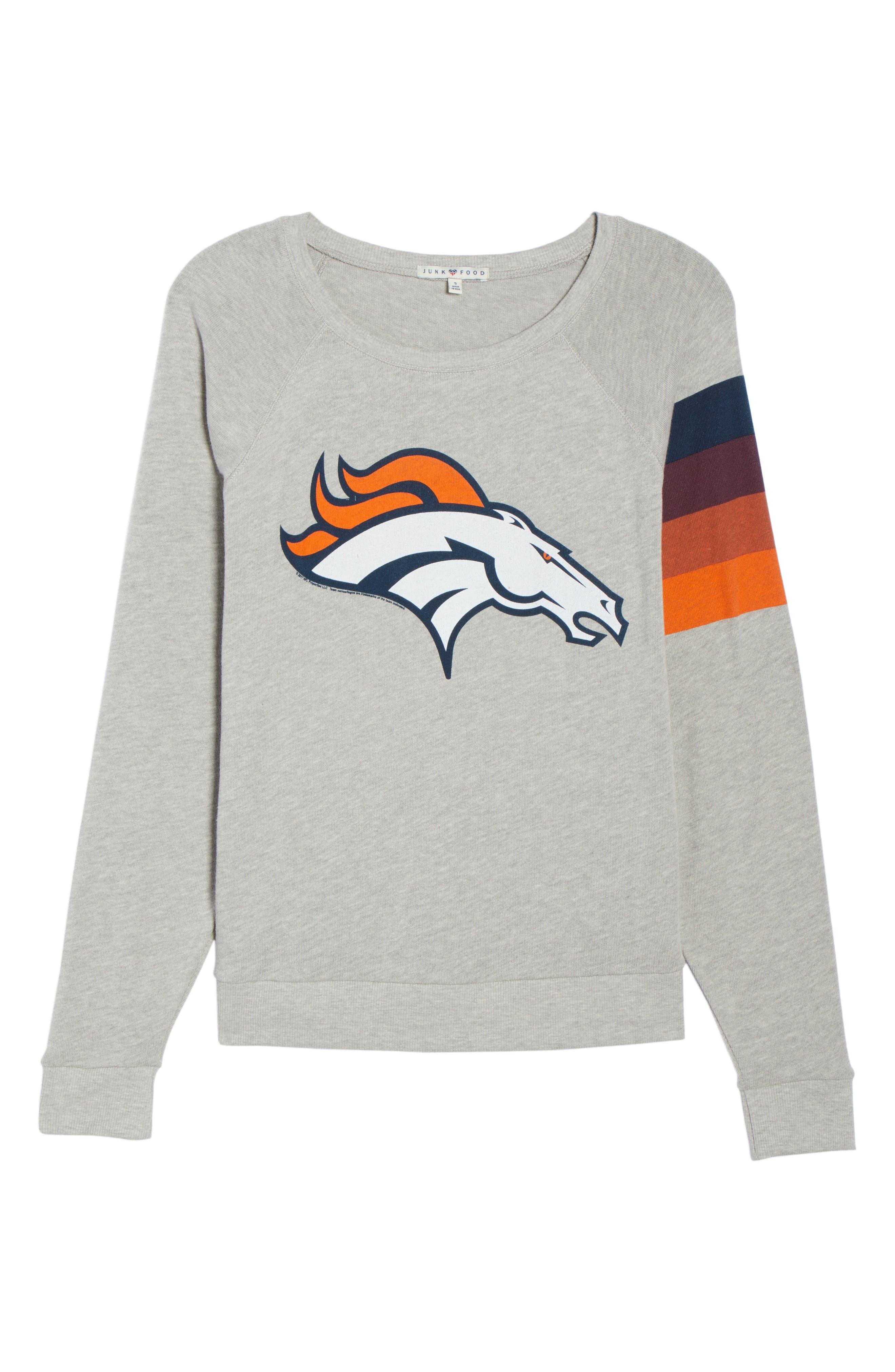 NFL Denver Broncos Hacci Sweatshirt,                             Alternate thumbnail 7, color,                             Dove Heather Grey