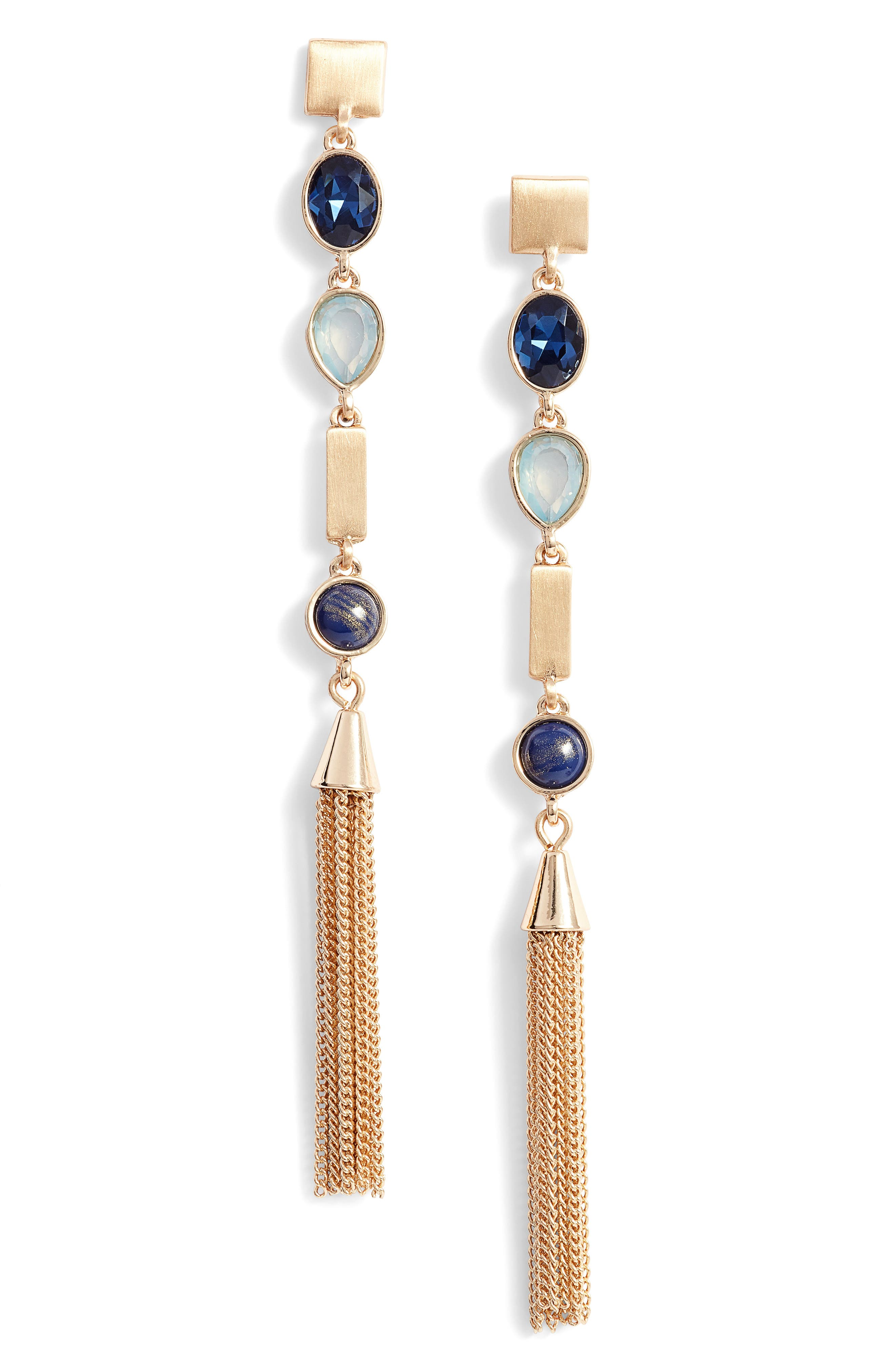 Alternate Image 1 Selected - Halogen® On the Rocks Linear Tassel Earrings