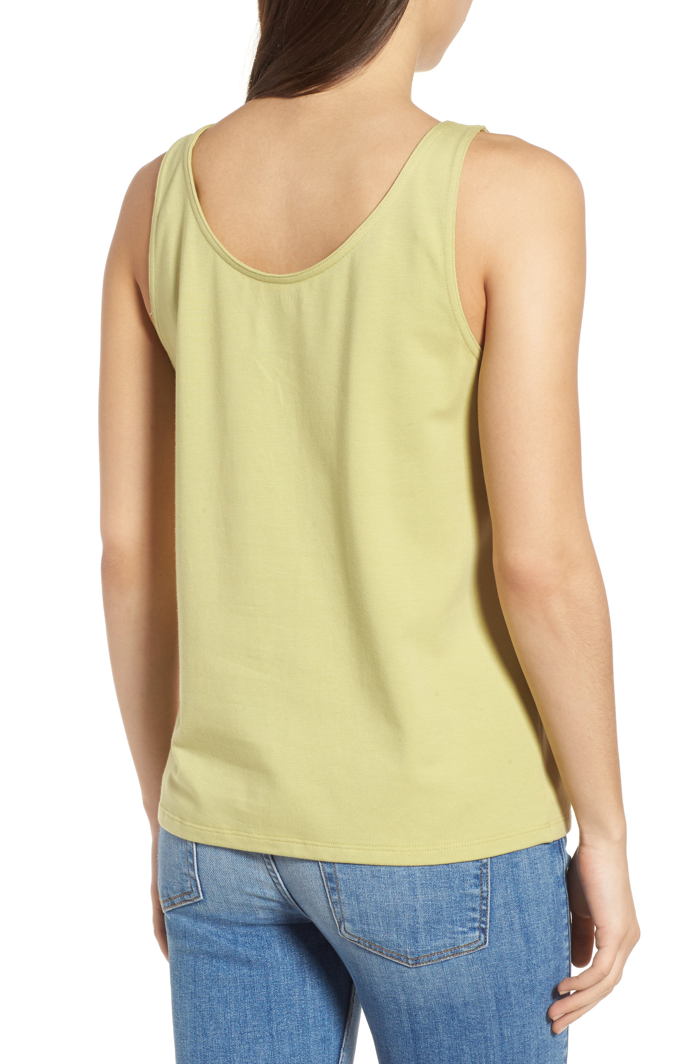 Alternate Image 2  - Eileen Fisher Organic Cotton Stretch Jersey Tank
