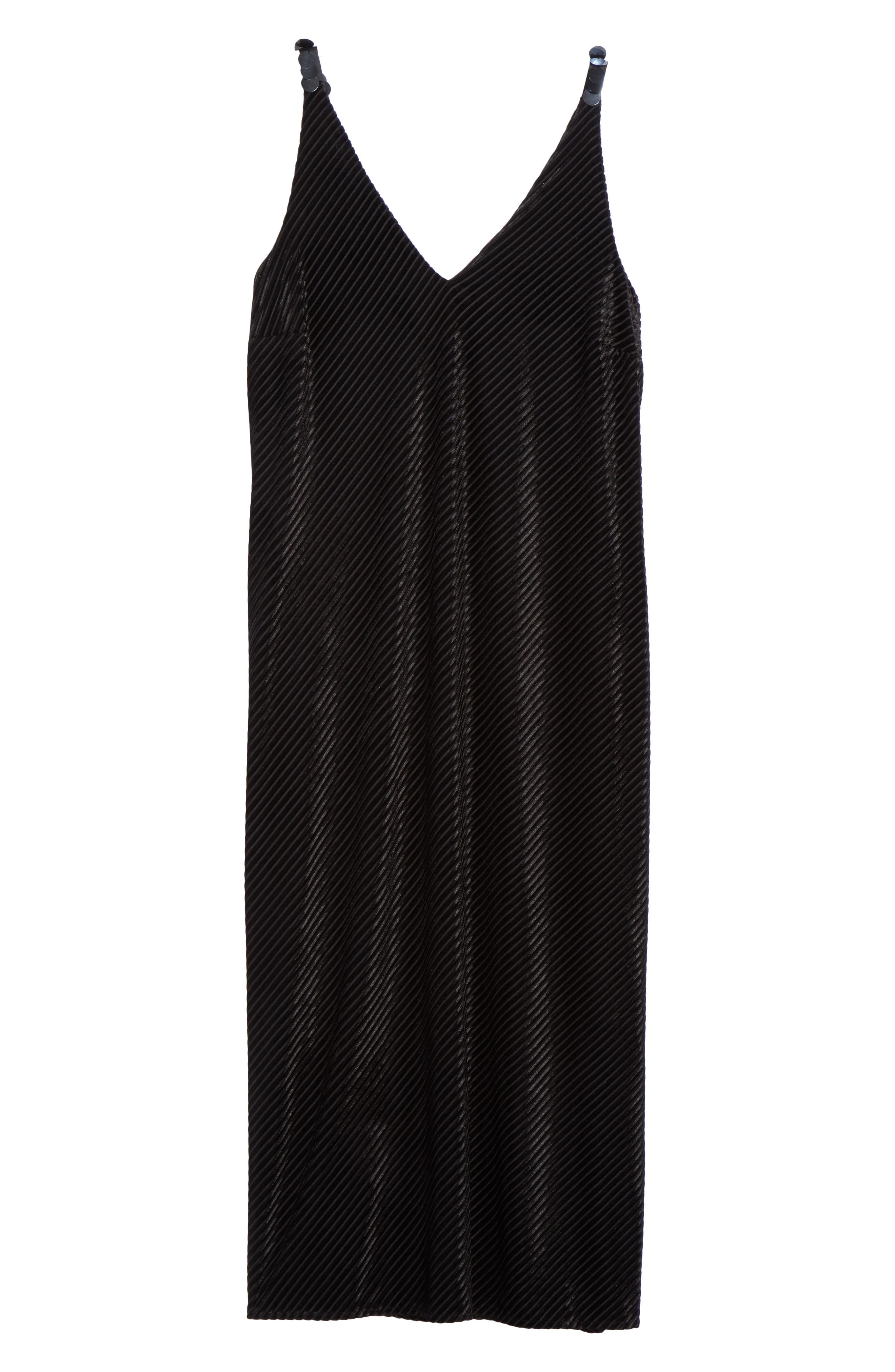 NIC+ ZOE Stunning Midi Slipdress,                             Alternate thumbnail 6, color,                             Black Onyx