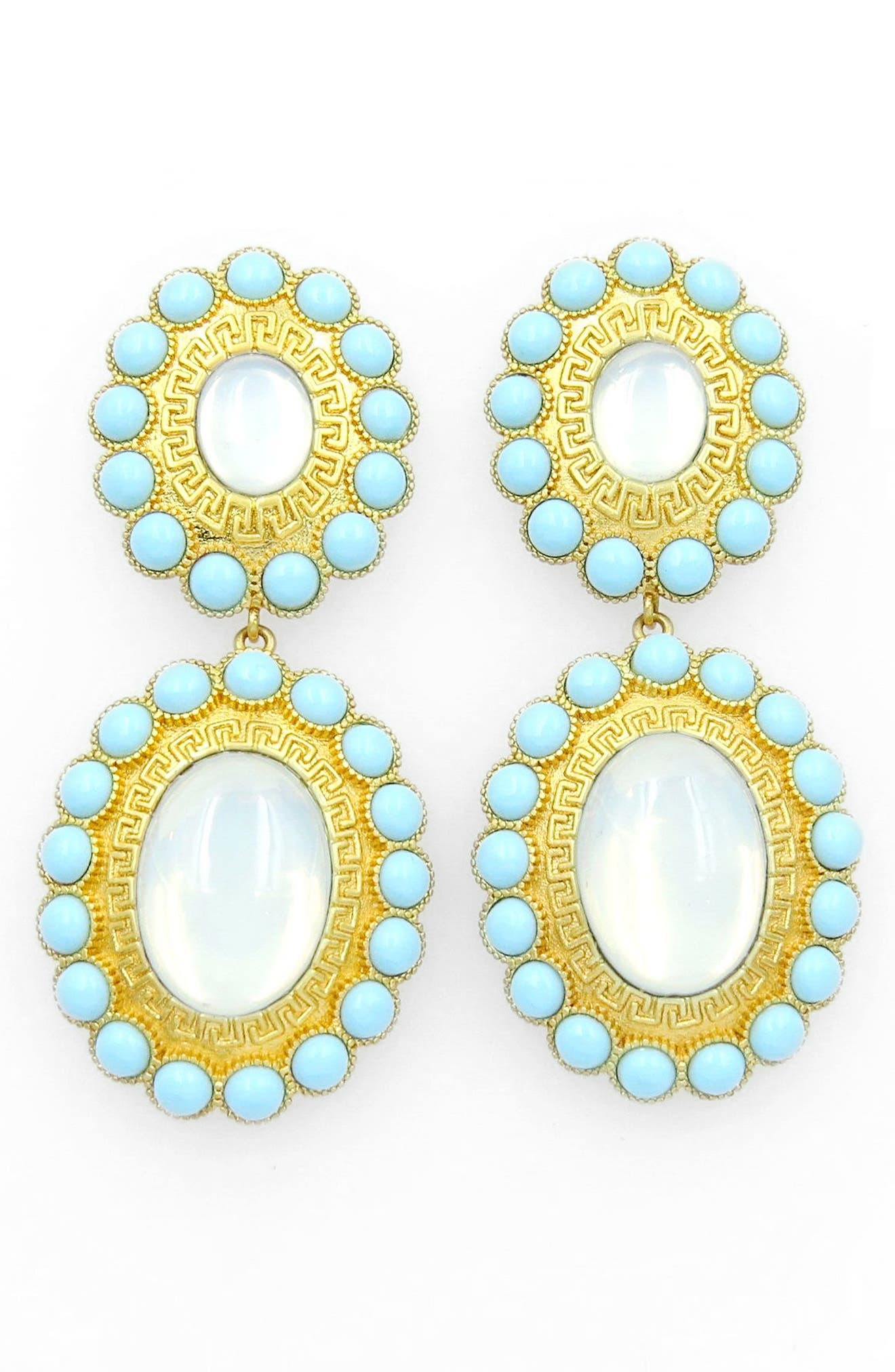 Drop Earrings,                         Main,                         color, Gold