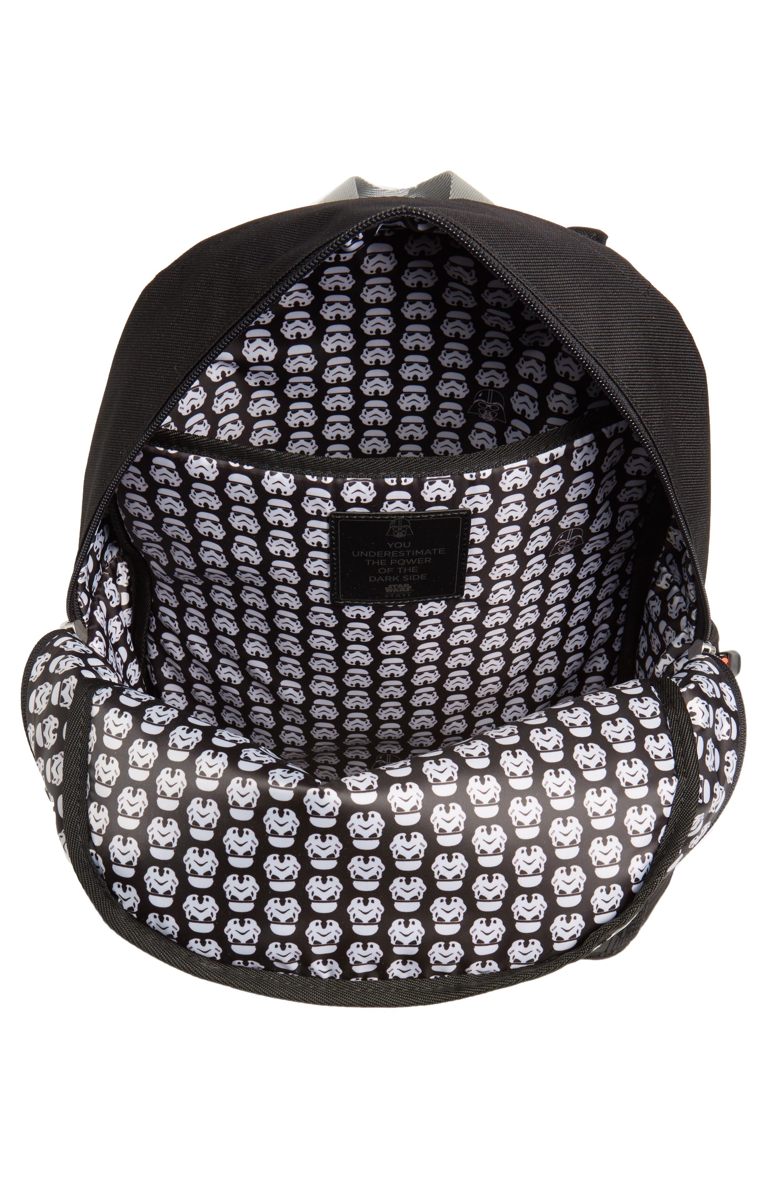 Star Wars<sup>™</sup> - Darth Vader Kane Backpack,                             Alternate thumbnail 4, color,                             Black/ Gray