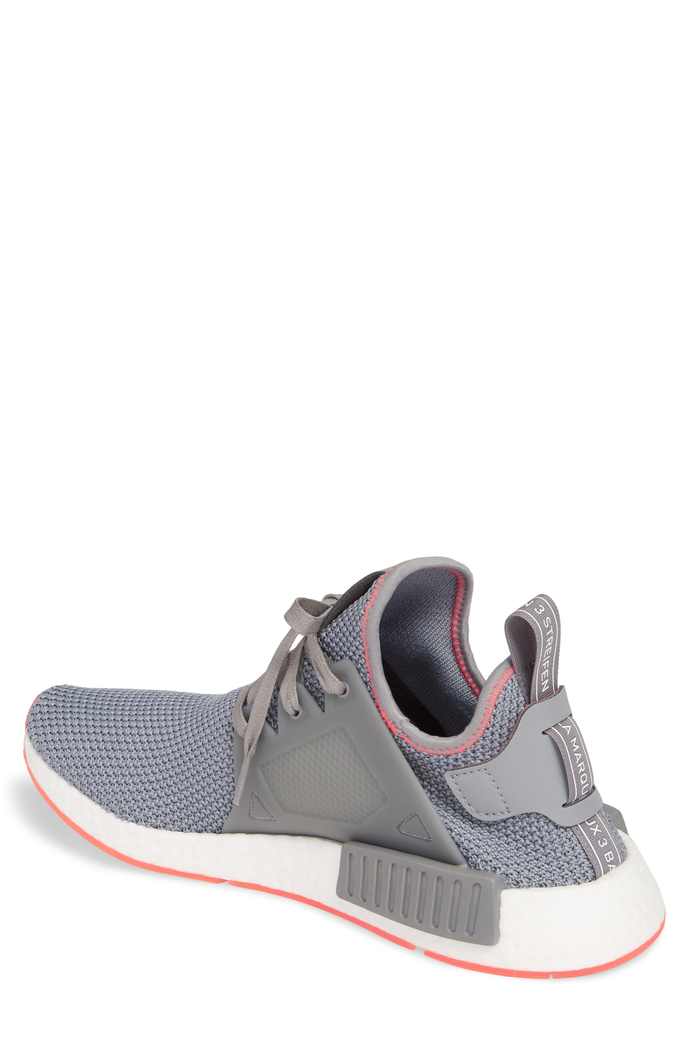NMD_XR1 Sneaker,                             Alternate thumbnail 2, color,                             Grey Heather/ Red