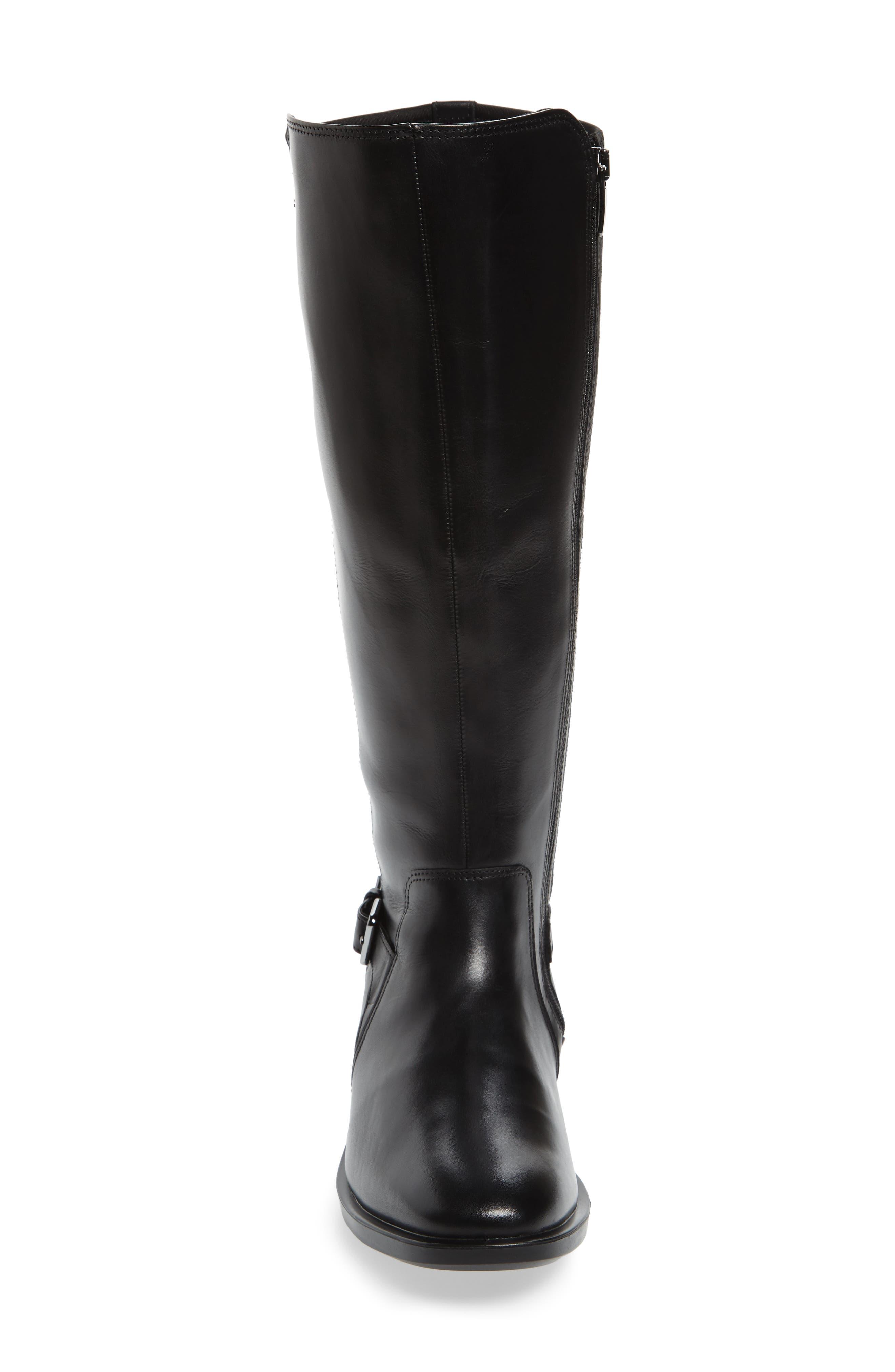 Shape 15 Stretch Shaft Riding Boot,                             Alternate thumbnail 4, color,                             Black Leather