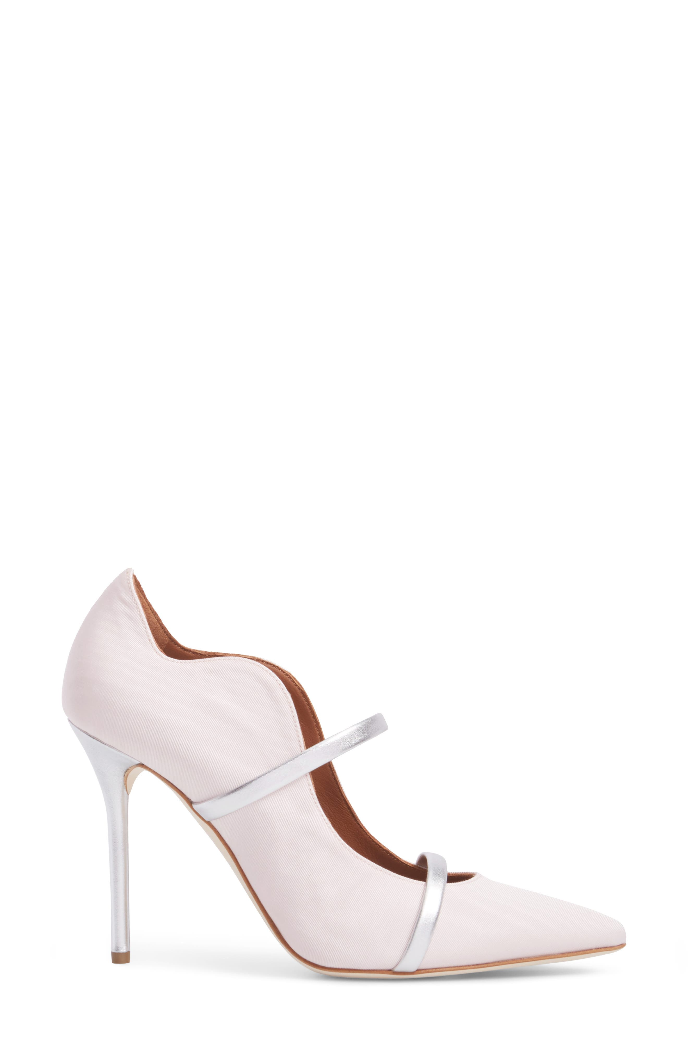 Maureen Double Band Pump,                             Alternate thumbnail 3, color,                             Rose/ Silver