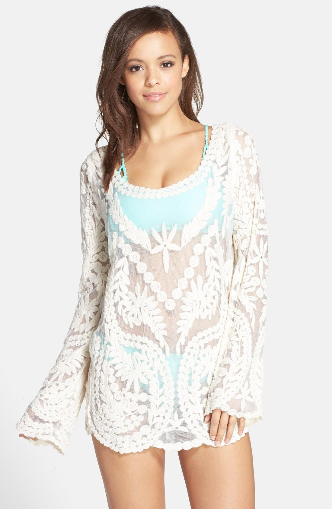 Alternate Image 1 Selected - Ella Moss 'Cabana' Crochet Cover-Up Tunic