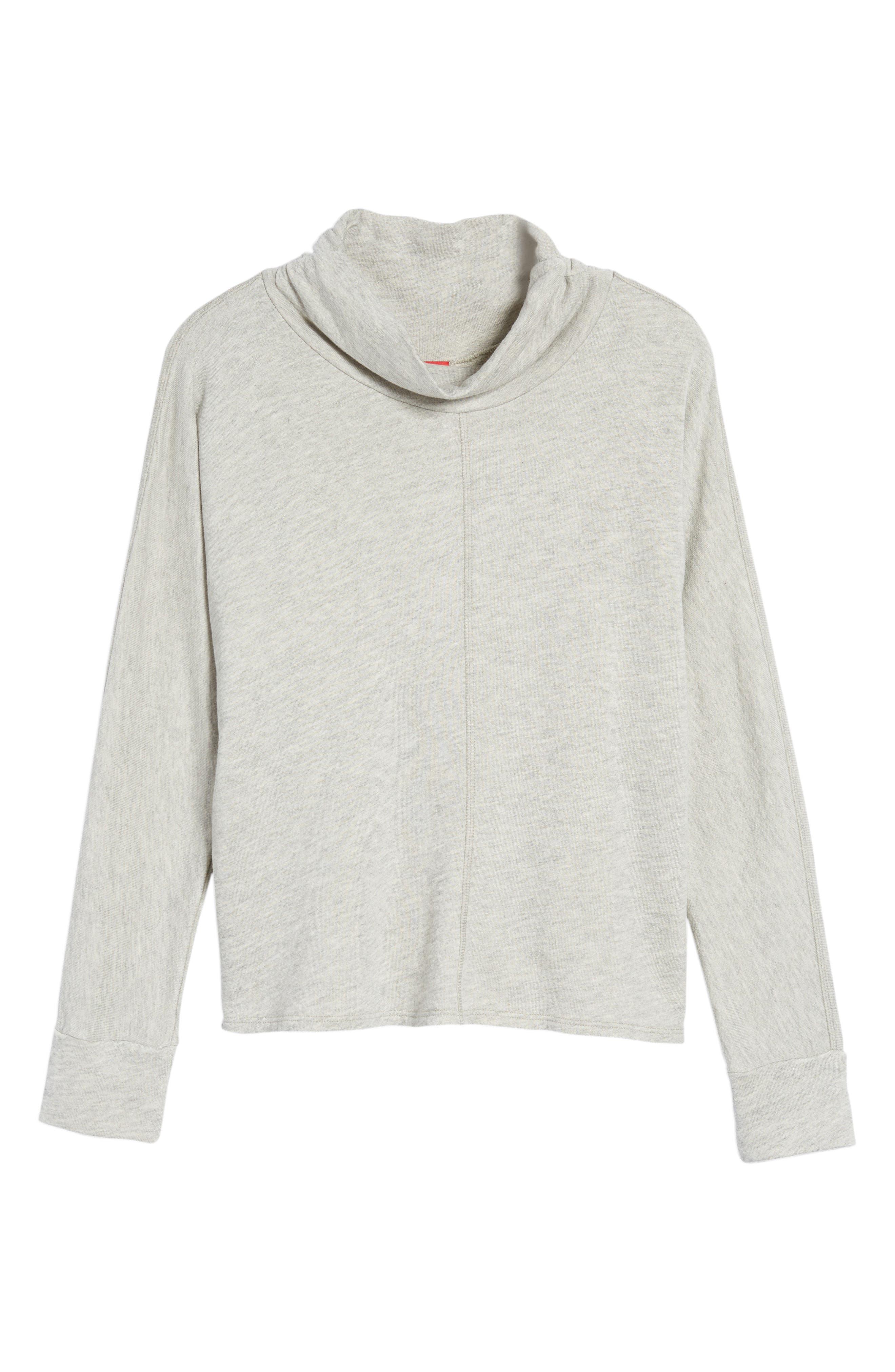 Helix Turtleneck Sweatshirt,                             Alternate thumbnail 6, color,                             Heather Grey