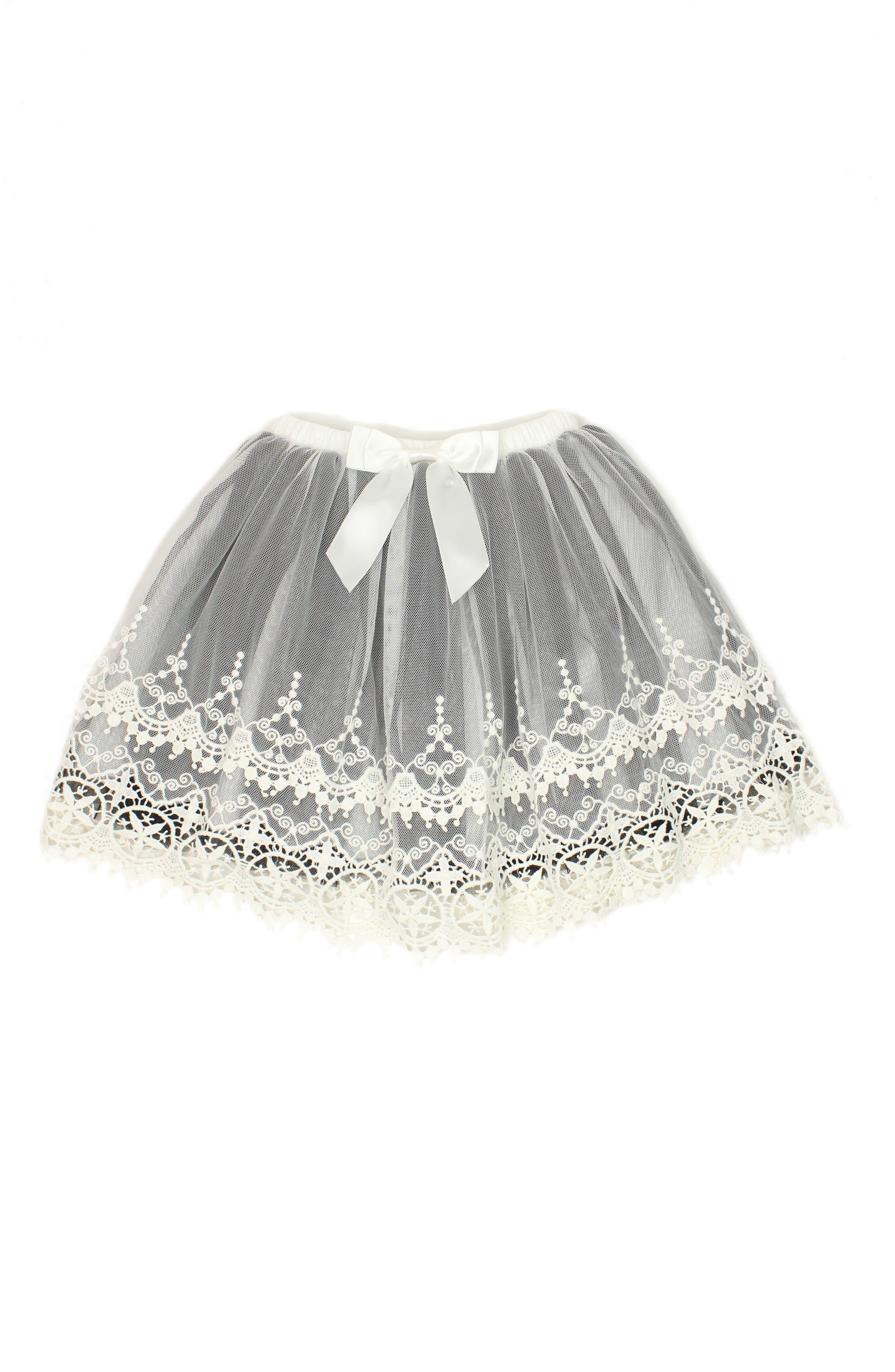 Alternate Image 1 Selected - Popatu Lace Tutu Skirt (Toddler Girls & Little Girls)