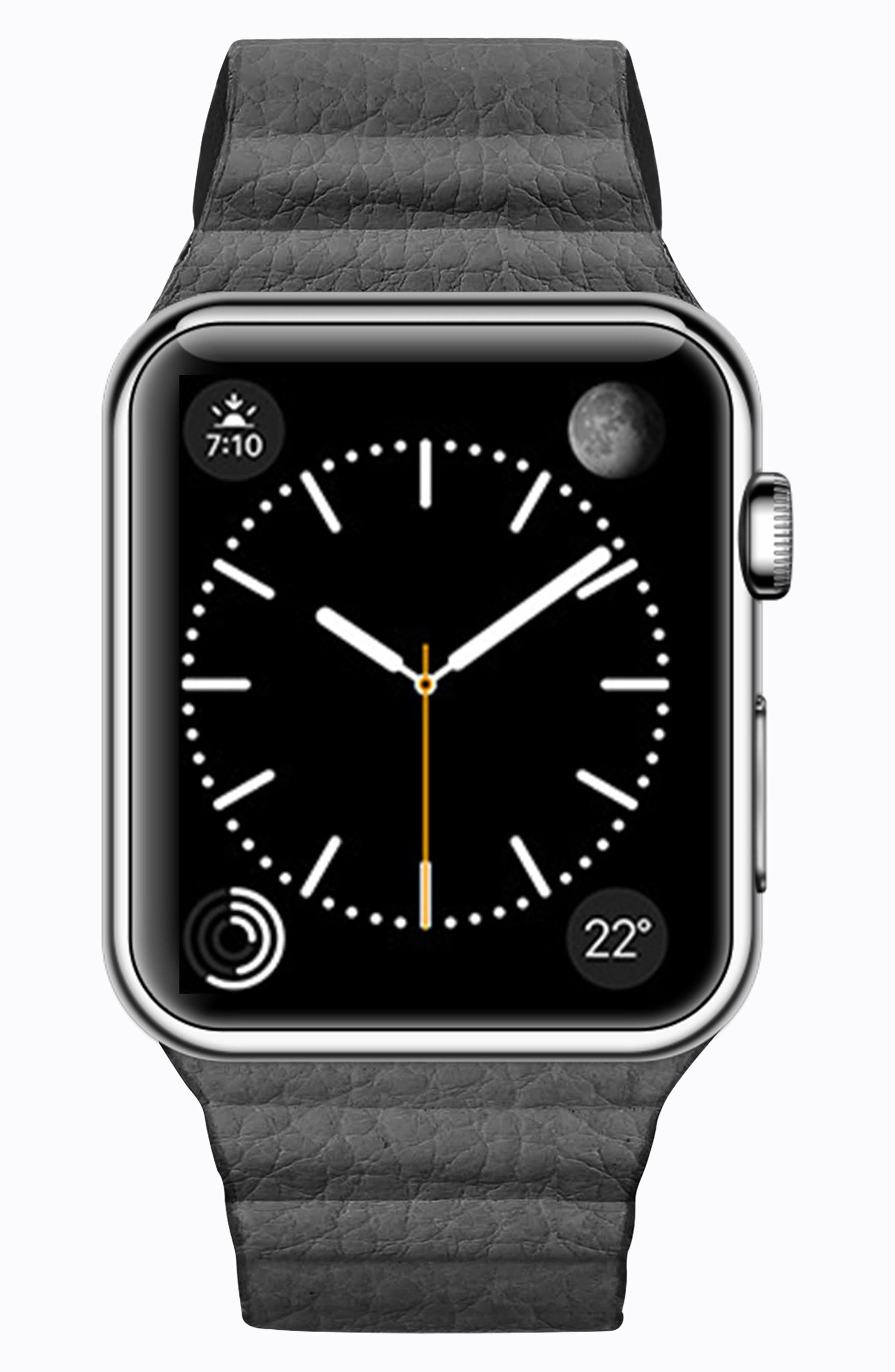 Magnetic Apple Watch Strap, 28mm,                         Main,                         color, Slate