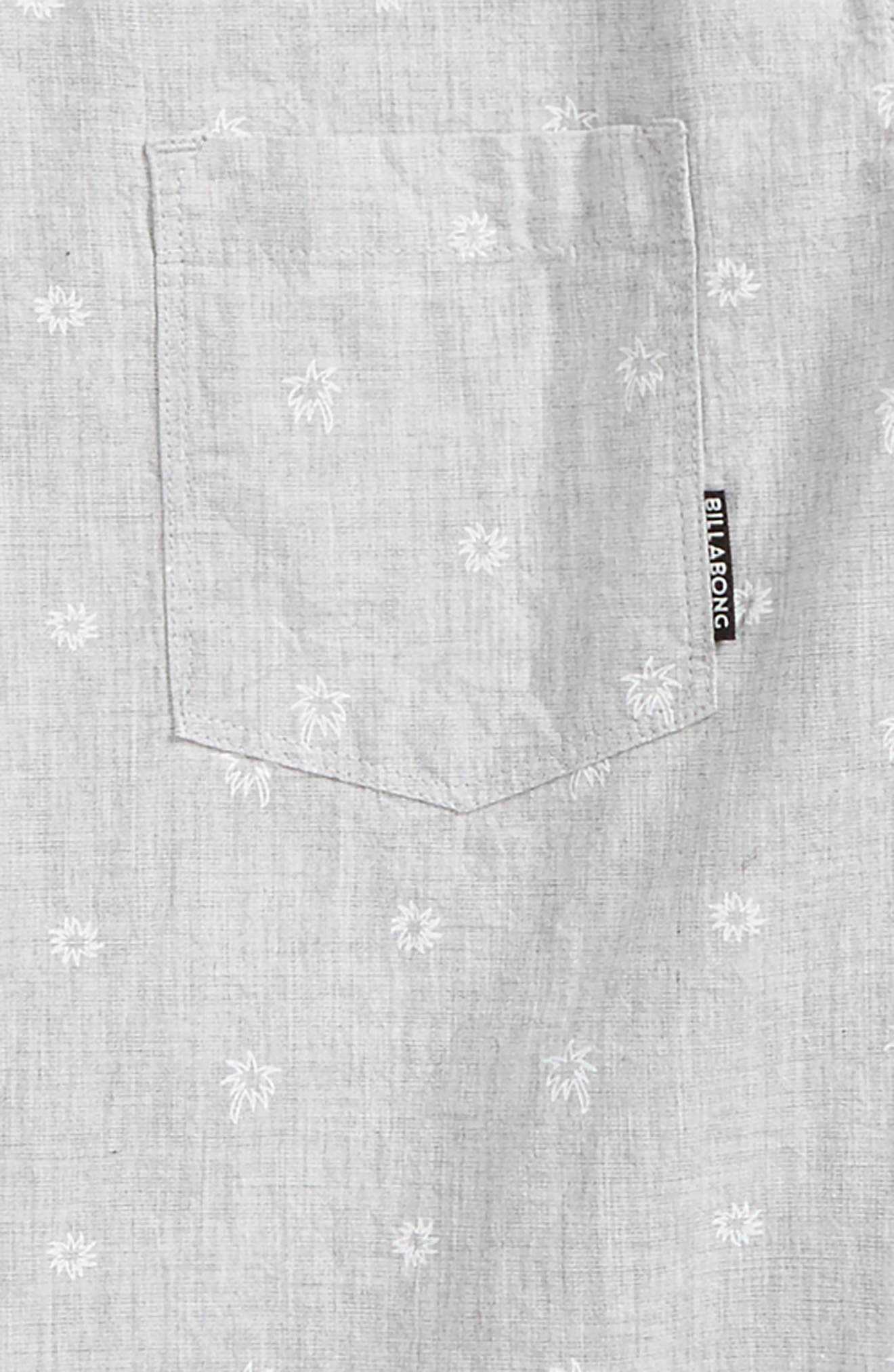 Sundays Mini Short Sleeve Woven Shirt,                             Alternate thumbnail 2, color,                             Light Grey Heather
