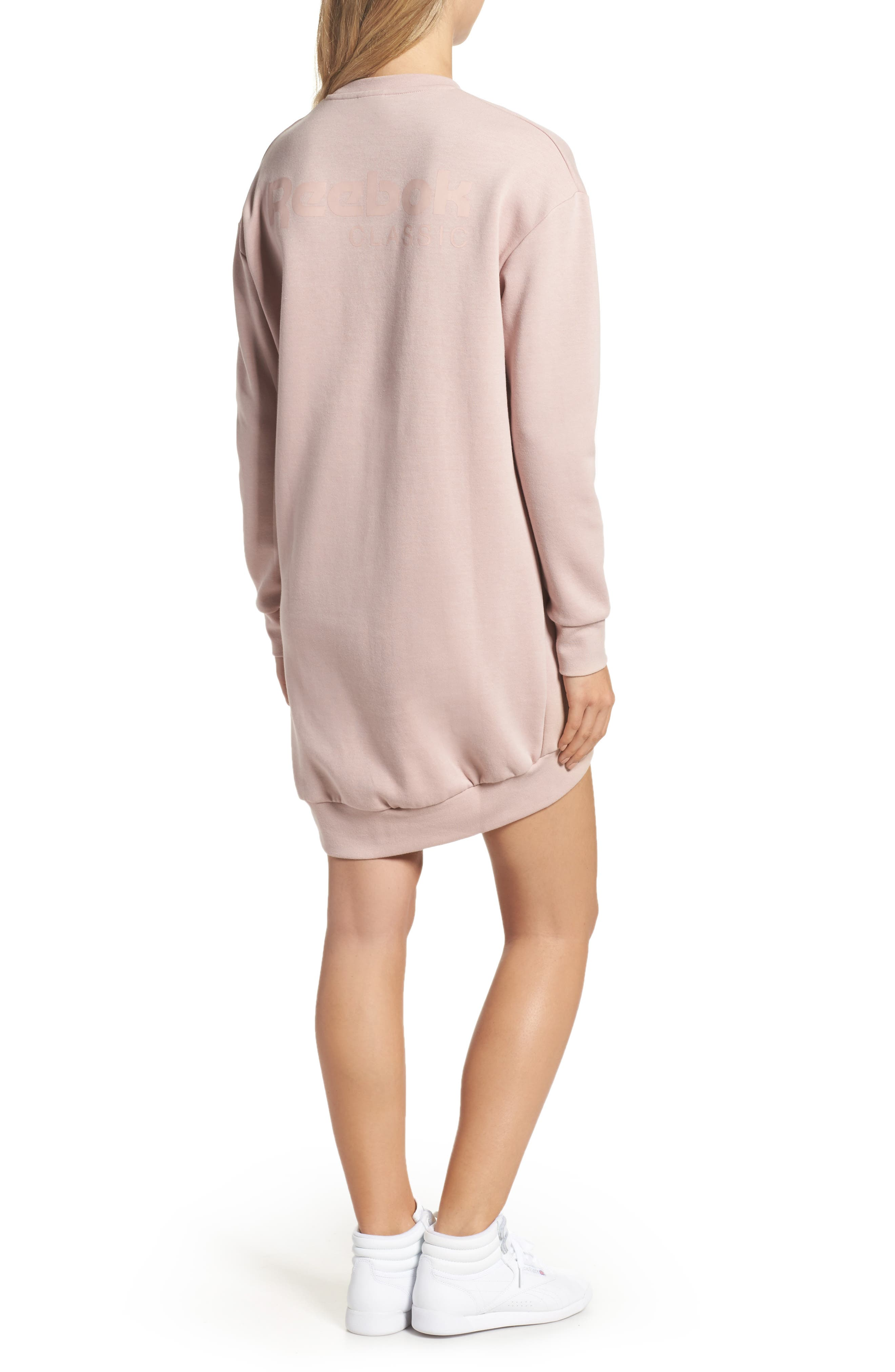 Oversized Sweatshirt,                             Alternate thumbnail 2, color,                             Shell Pink