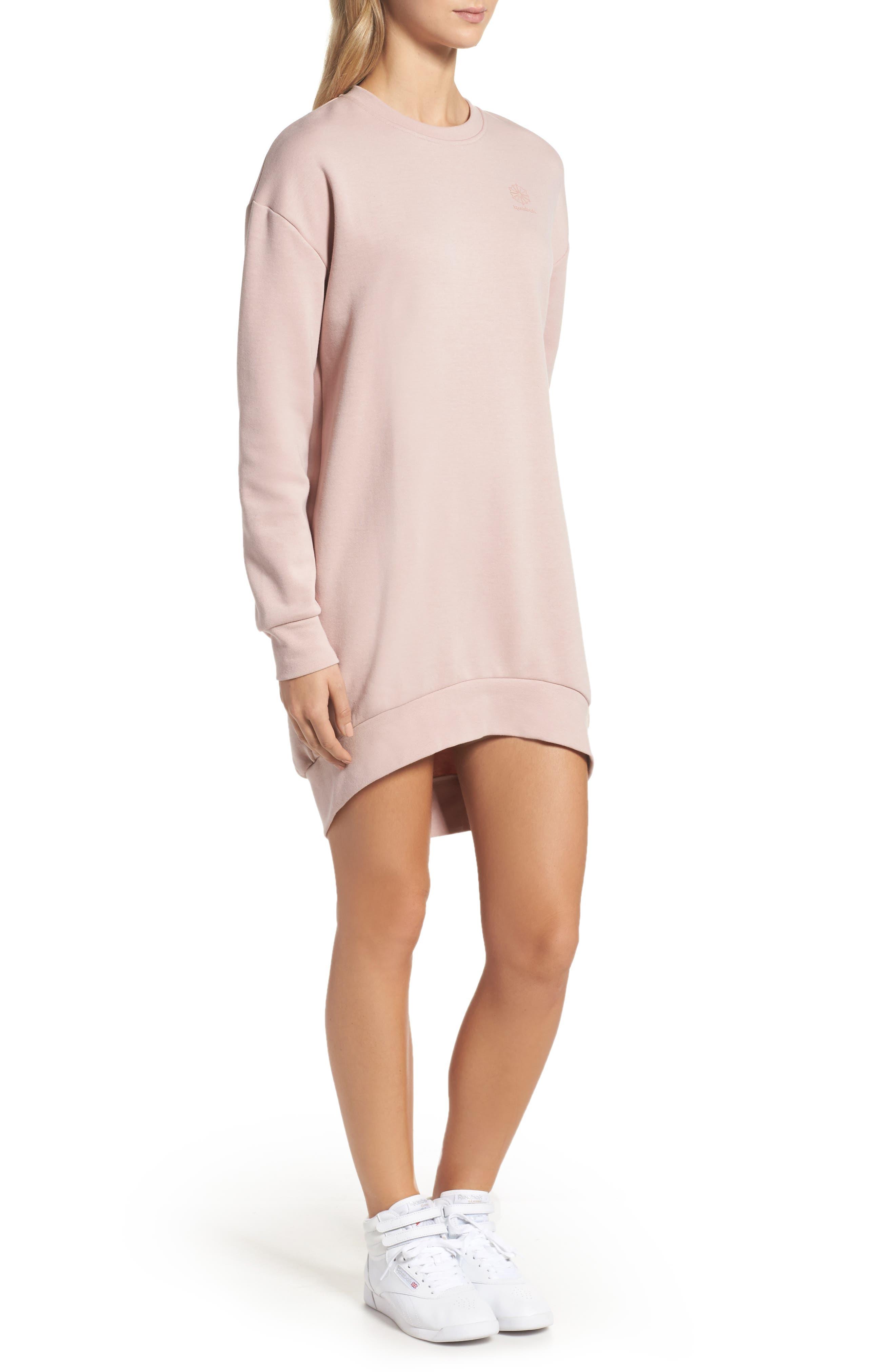 Oversized Sweatshirt,                             Alternate thumbnail 3, color,                             Shell Pink