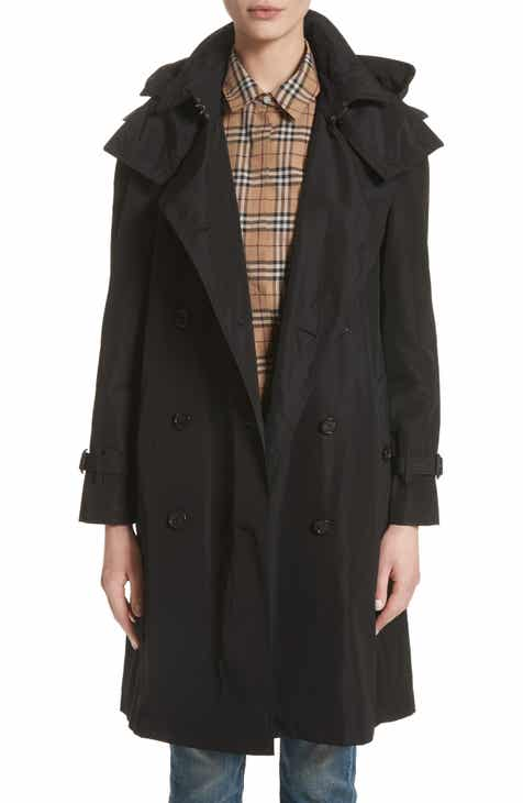caf1a03b3e Burberry Amberford Taffeta Trench Coat with Detachable Hood