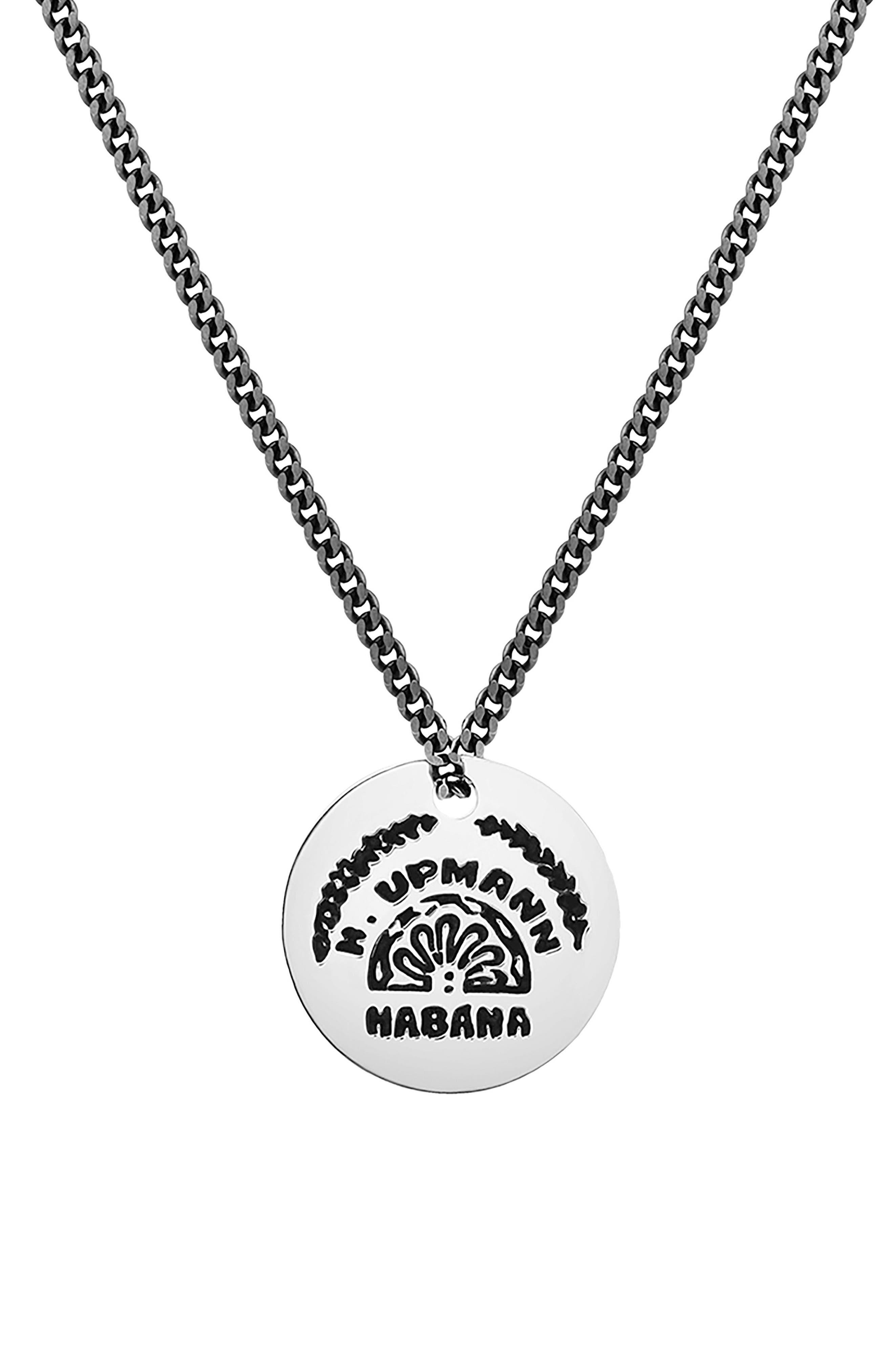 Vinales Pendant Necklace,                             Main thumbnail 1, color,                             Polished Silver