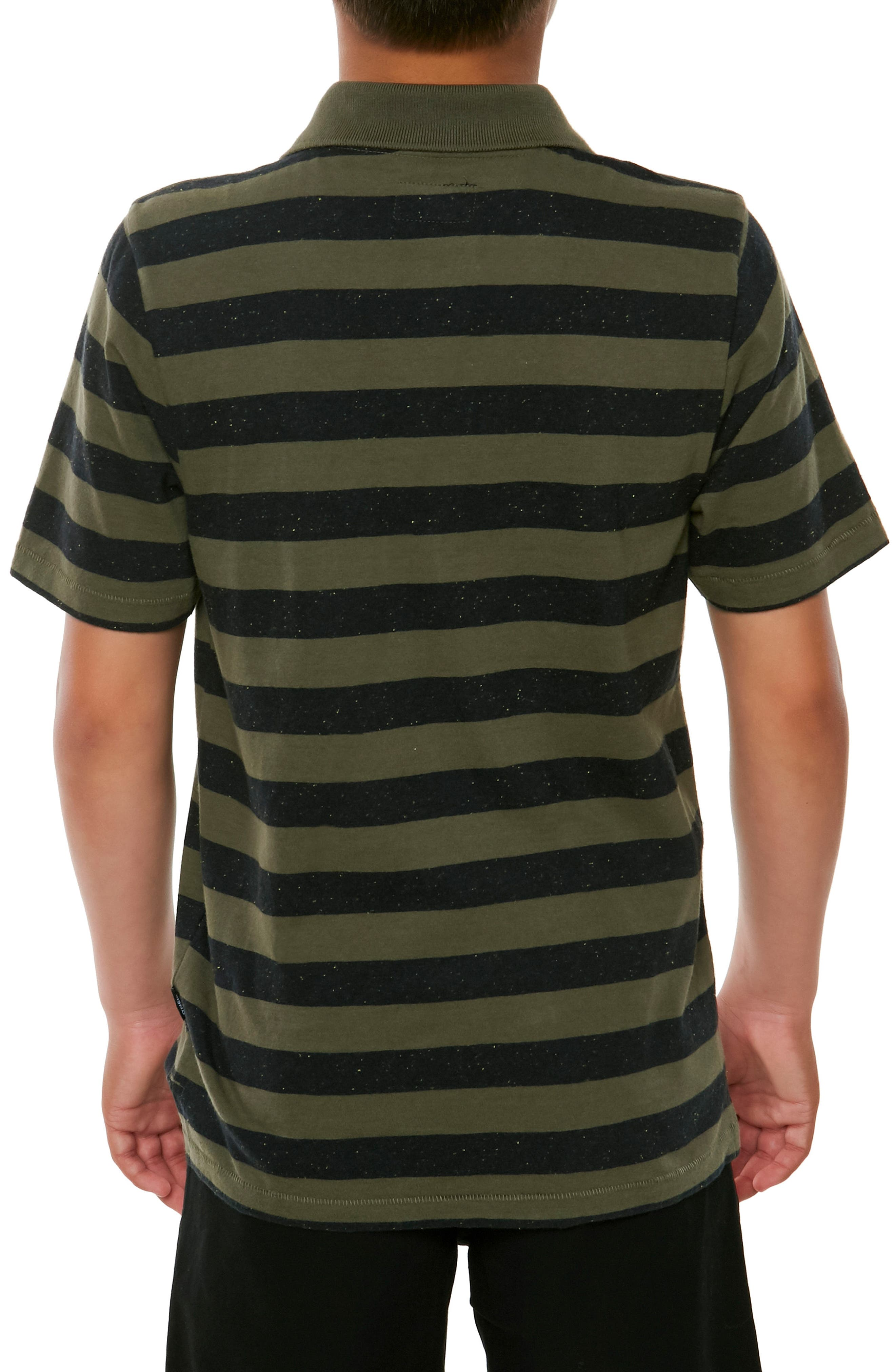Scoundrel Striped Polo,                             Alternate thumbnail 4, color,                             Army Green