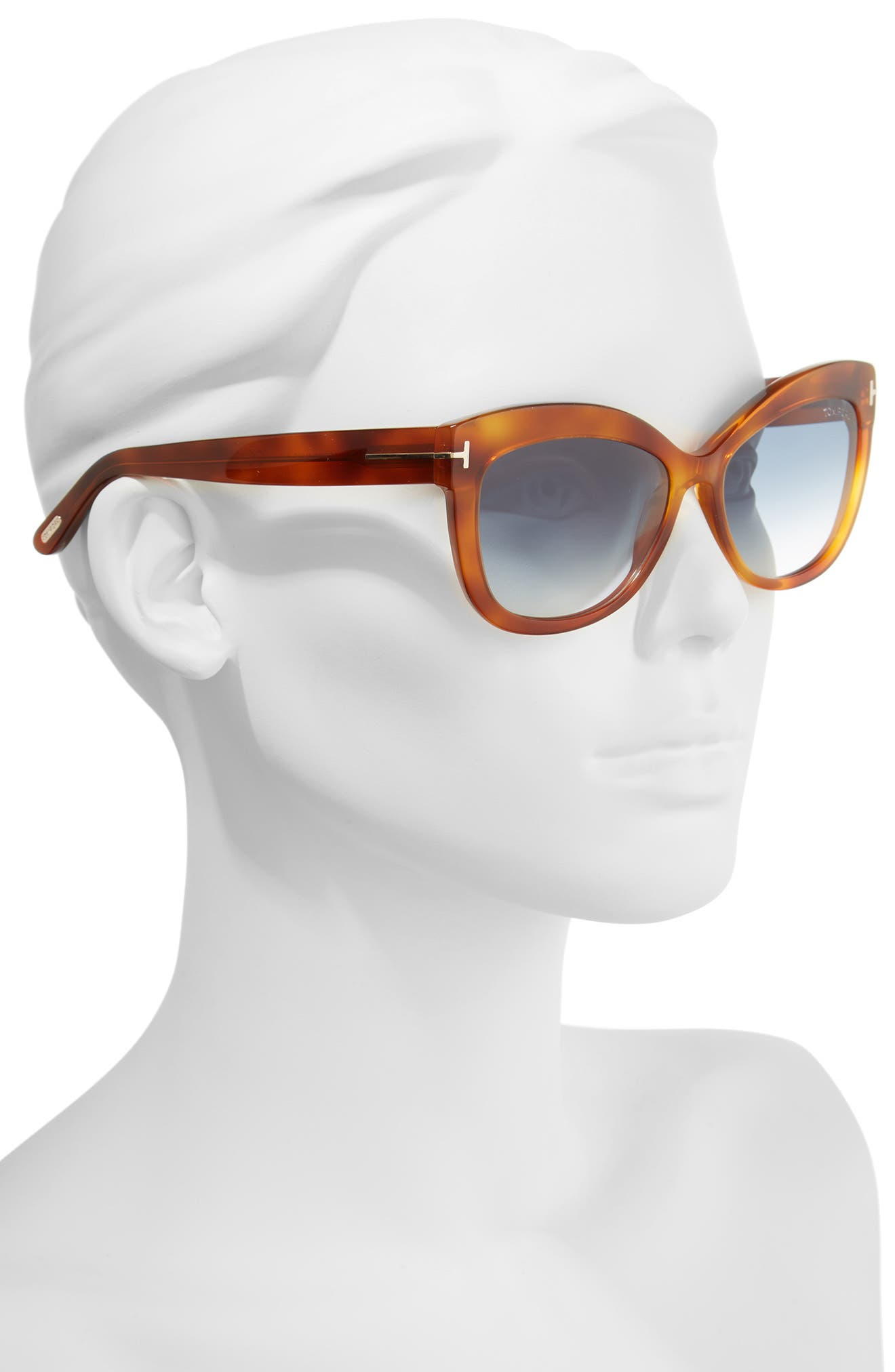 Alistair 56mm Gradient Sunglasses,                             Alternate thumbnail 2, color,                             Blonde Havana / Gradient Blue