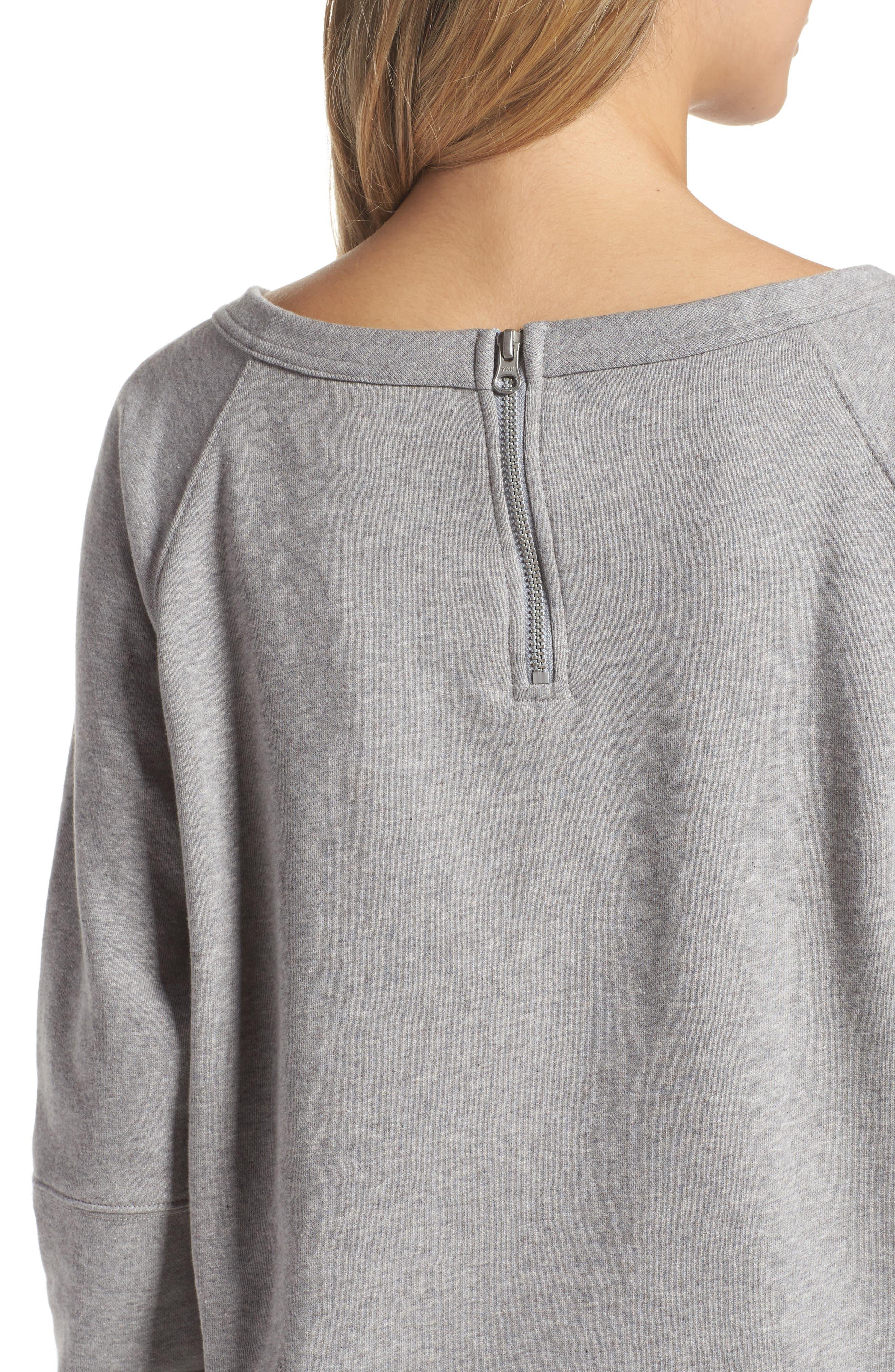 Heritage Starcrest Sweatshirt,                             Alternate thumbnail 4, color,                             Medium Heather Grey