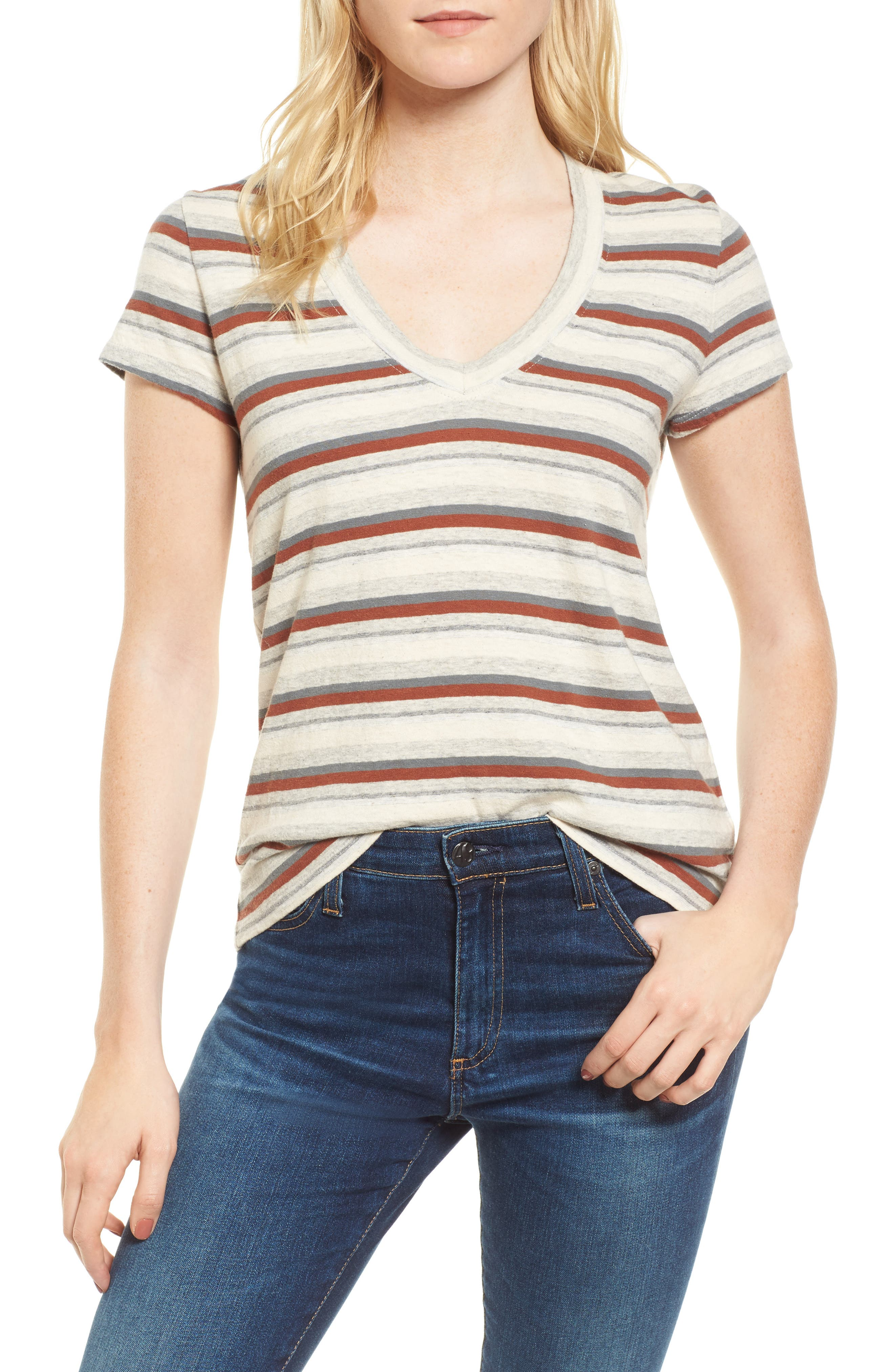 Alternate Image 1 Selected - James Perse Stripe Tee