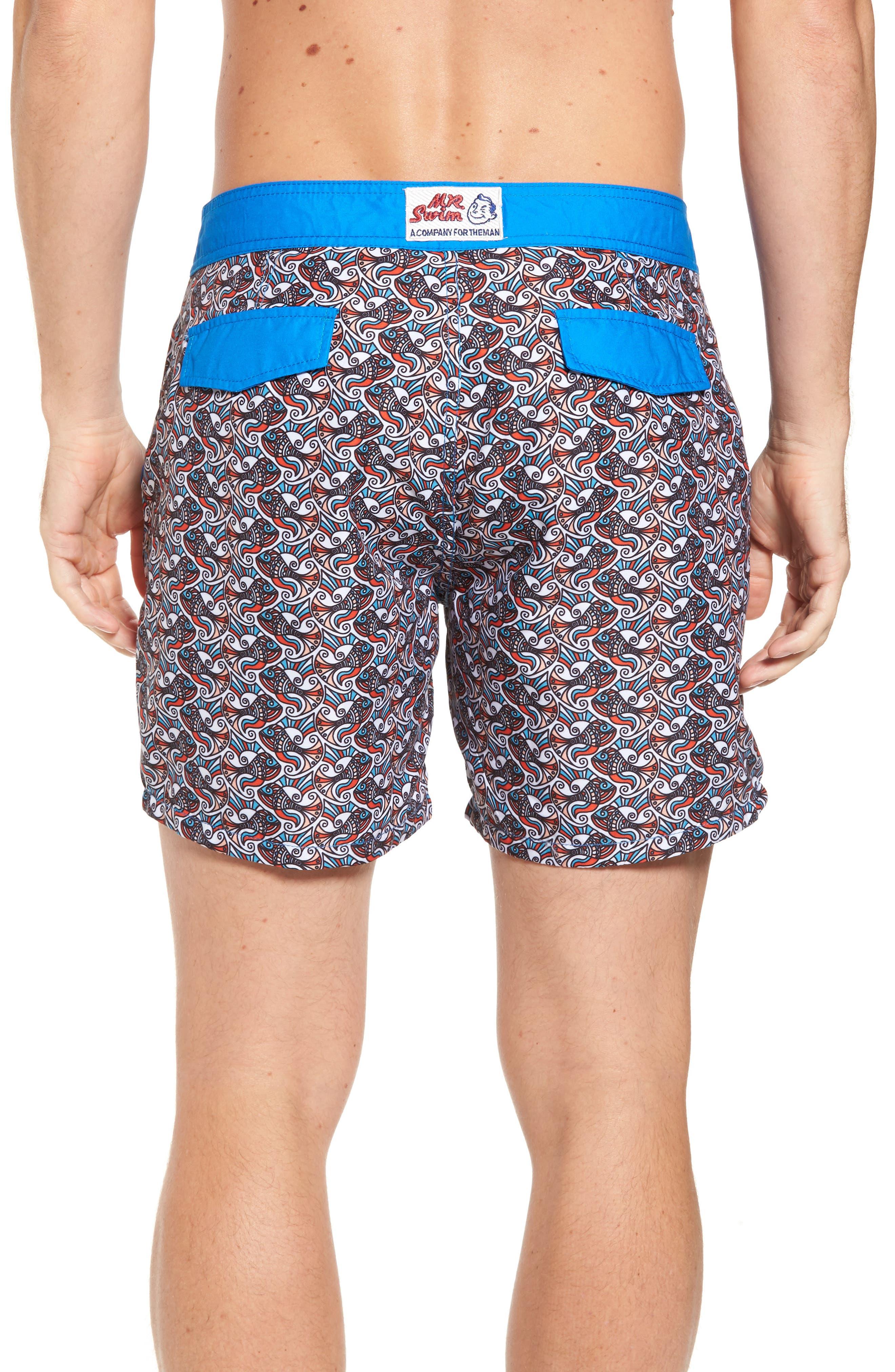 Alternate Image 2  - Mr. Swim Fish Swirls Print Swim Trunks