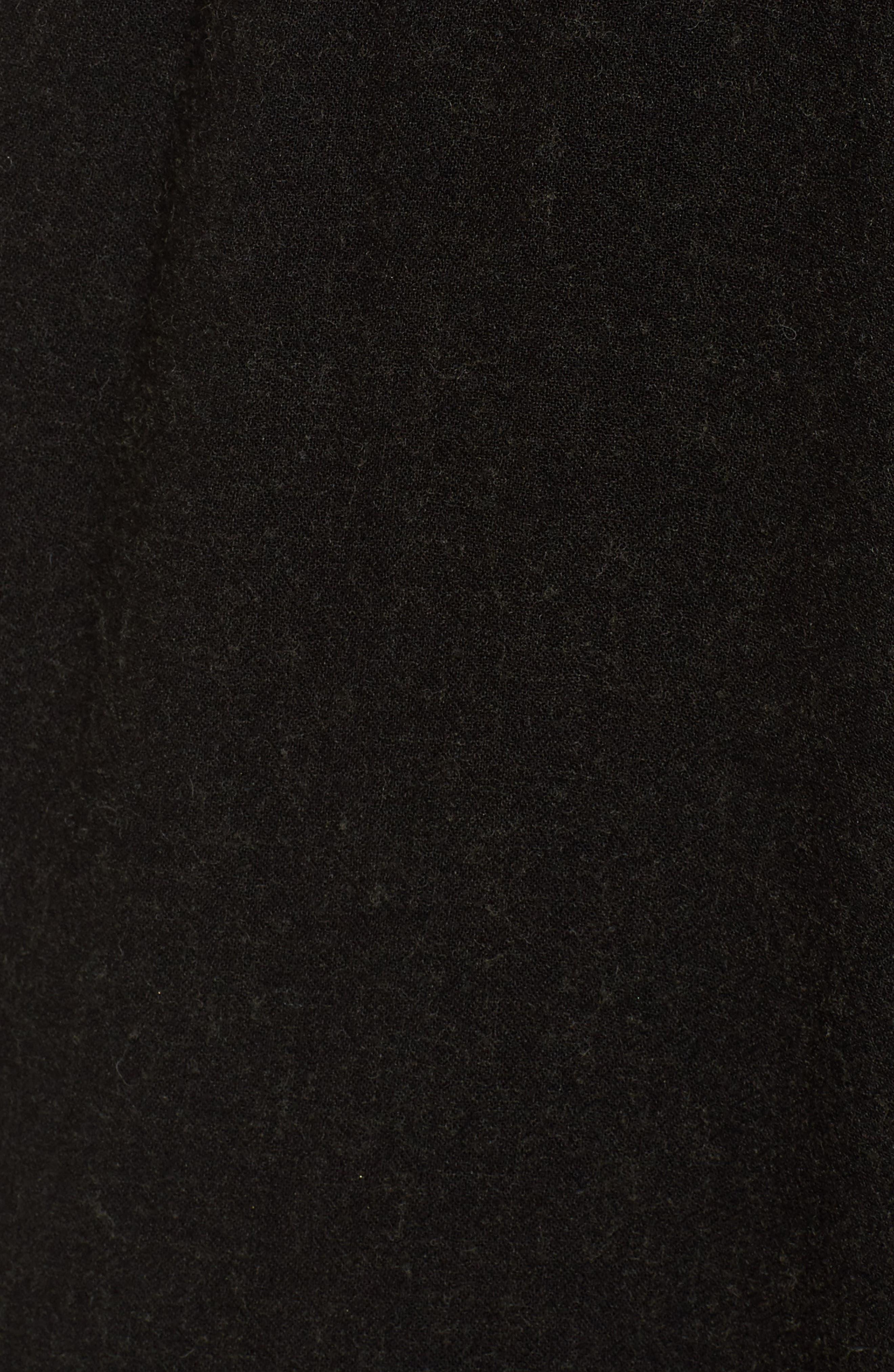 Midi Skirt,                             Alternate thumbnail 5, color,                             Black