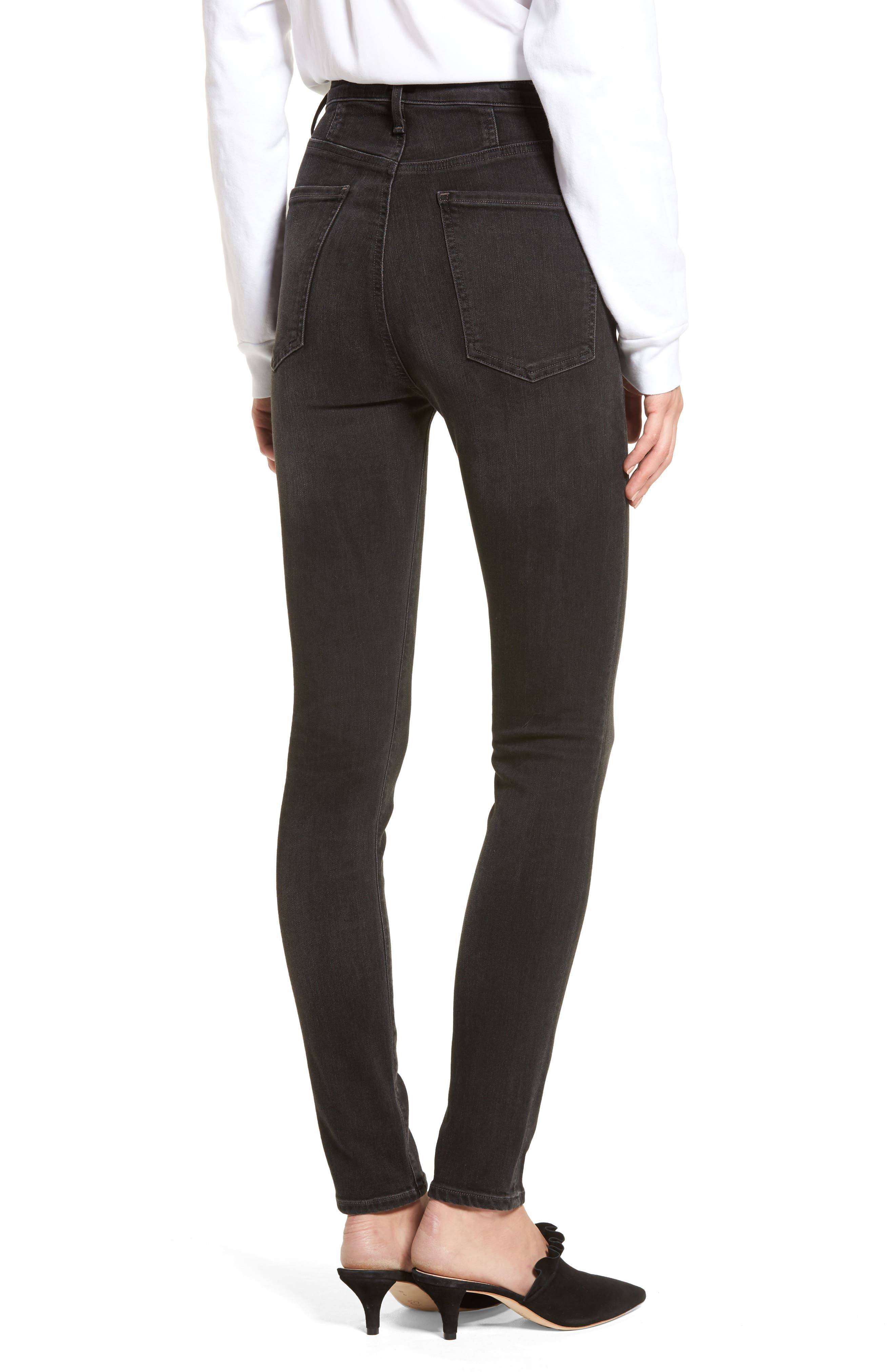 Chrissy High Waist Skinny Jeans,                             Alternate thumbnail 2, color,                             Darkness
