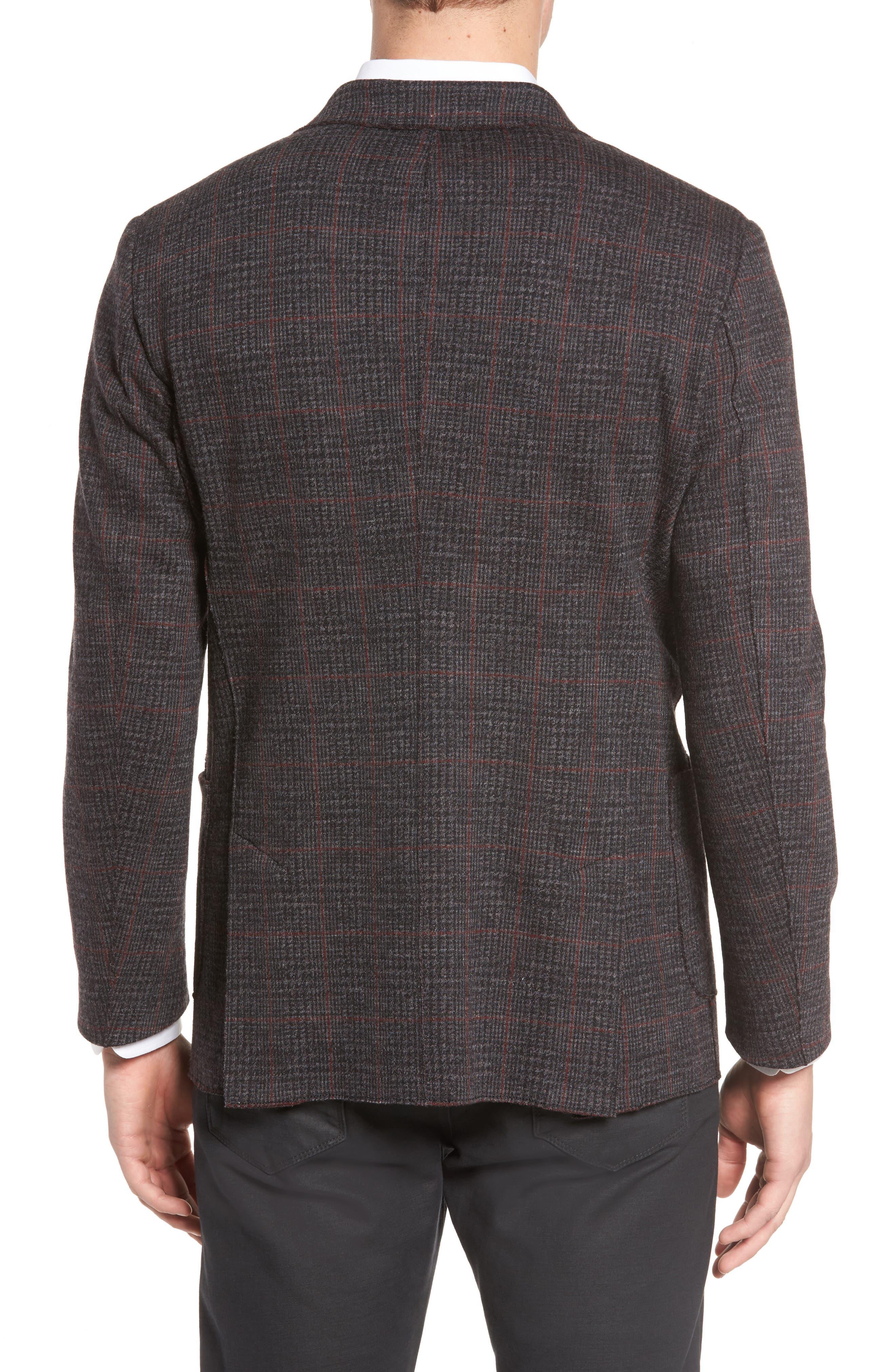 Alternate Image 2  - Bugatchi Plaid Wool Blazer