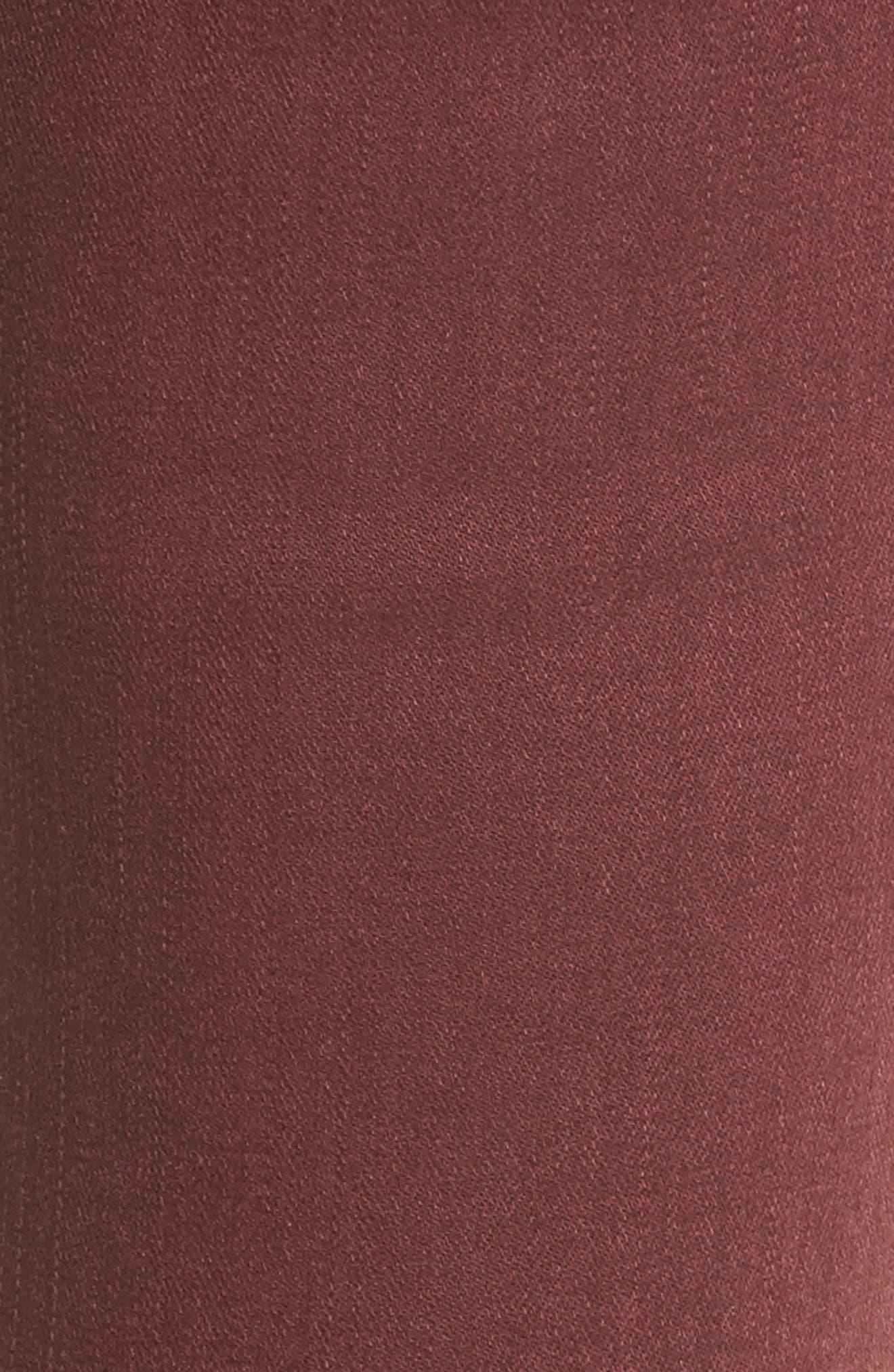 Raw Hem Skinny Jeans,                             Alternate thumbnail 6, color,                             Rumba Red