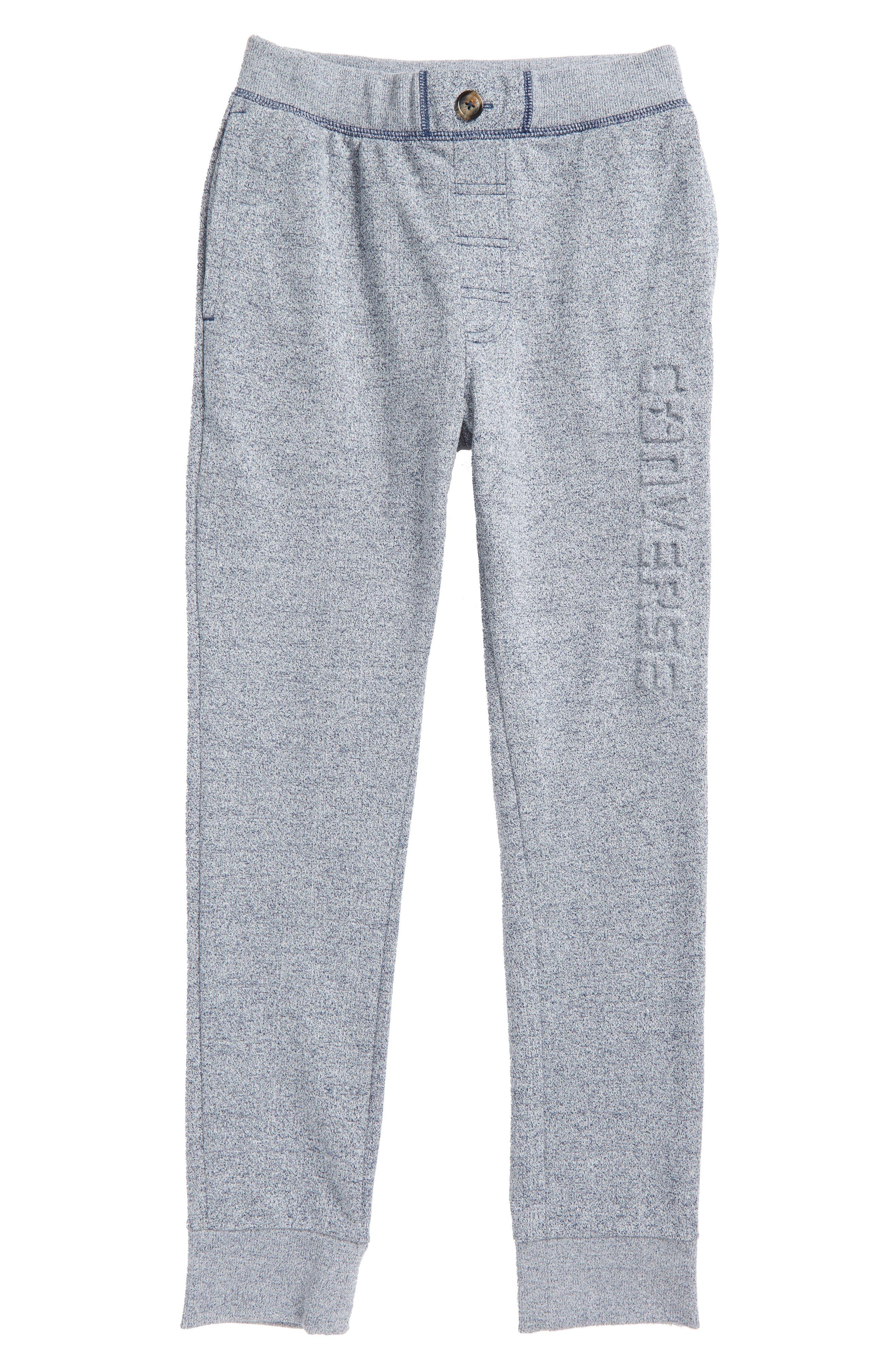 Embossed Logo Sweatpants,                         Main,                         color, Navy Marl