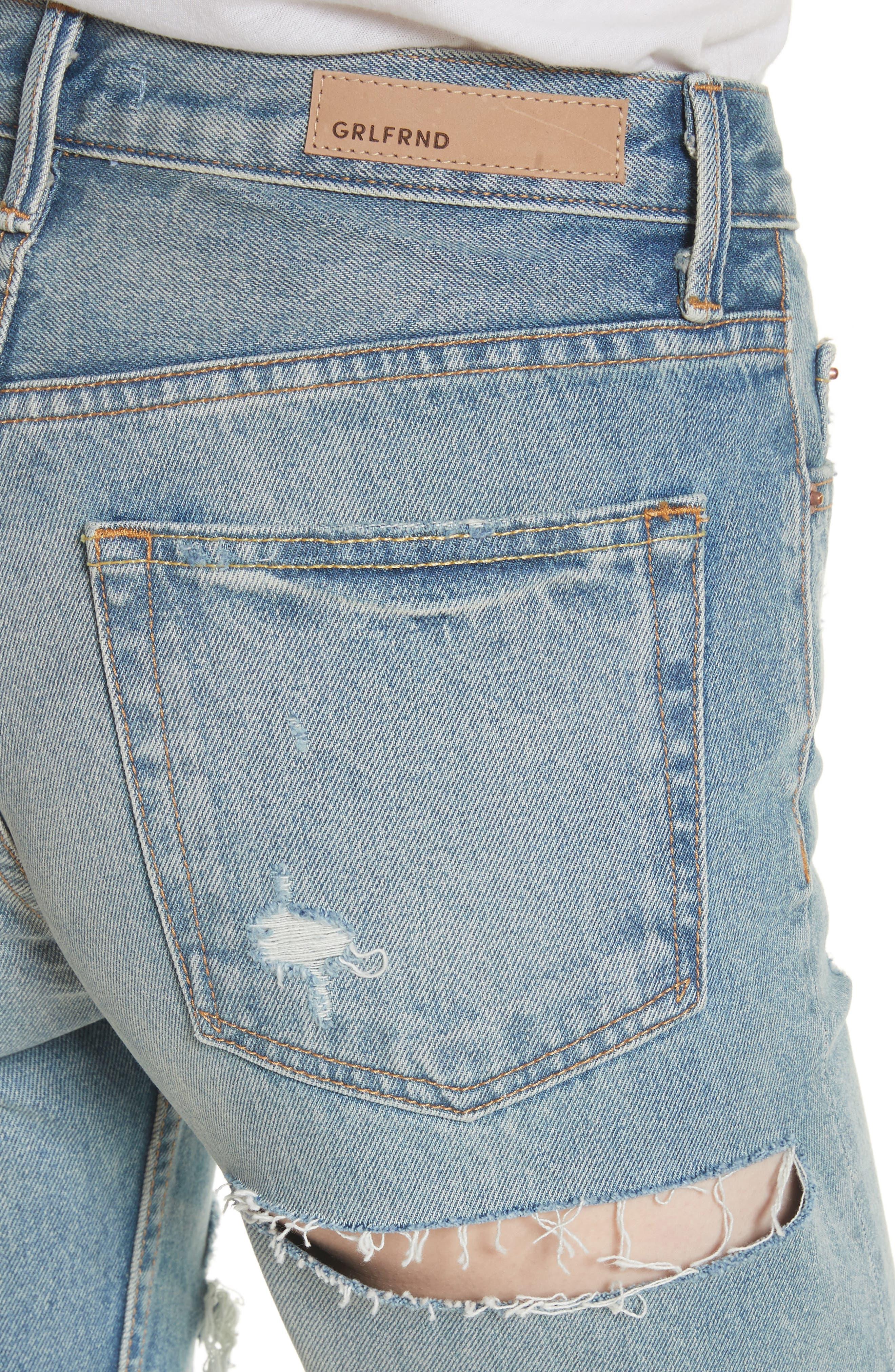 Alternate Image 4  - GRLFRND Karolina Ripped Rigid High Waist Skinny Jeans (A Little More Love)